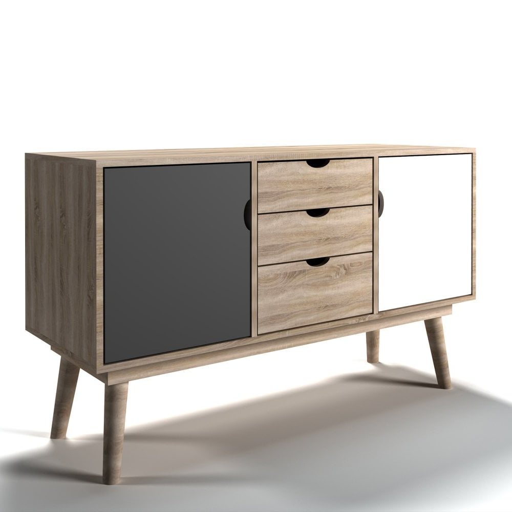 3 Drawer/2 Door Sideboards With Well Liked Lpd Furniture Scandi Grey Sideboard (View 4 of 20)