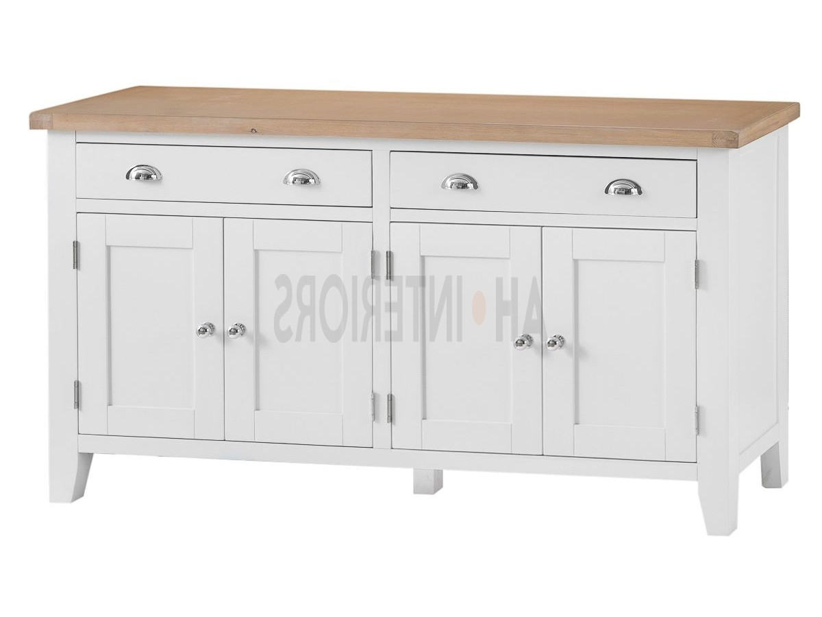 4 Door 3 Drawer White Wash Sideboards With Favorite Kettle Interiors Tt Extra Large 4 Door Sideboard (View 10 of 20)