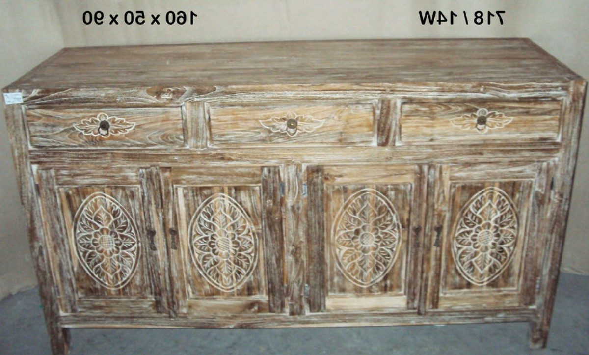 4 Door 3 Drawer White Wash Sideboards With Most Up To Date Java 3 Drawers 4 Doors Sideboard Whitewashed (Gallery 19 of 20)