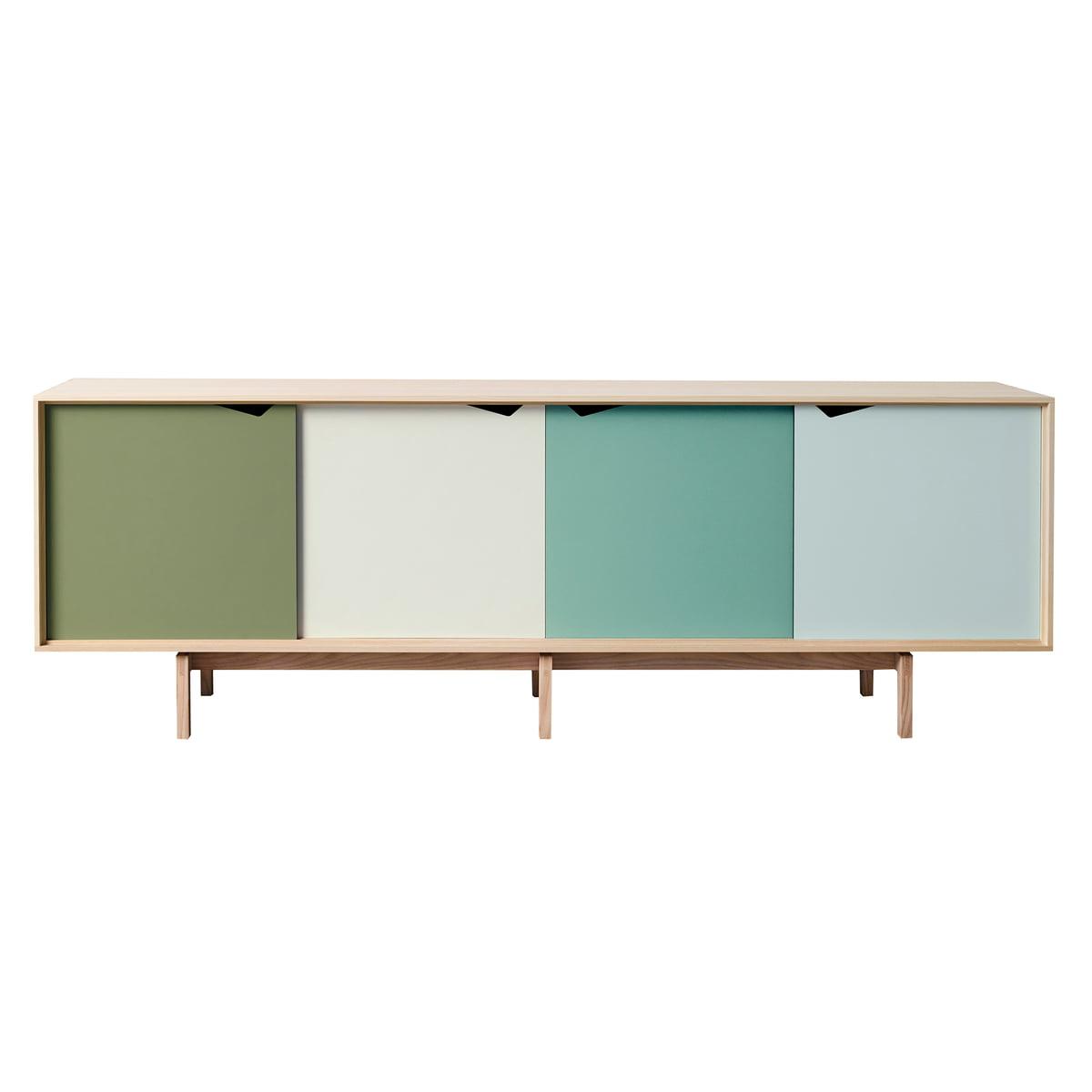 4 Door 4 Drawer Metal Inserts Sideboards Inside Favorite S1 Sideboard Multicoloured Andersen Furniture (Gallery 14 of 20)