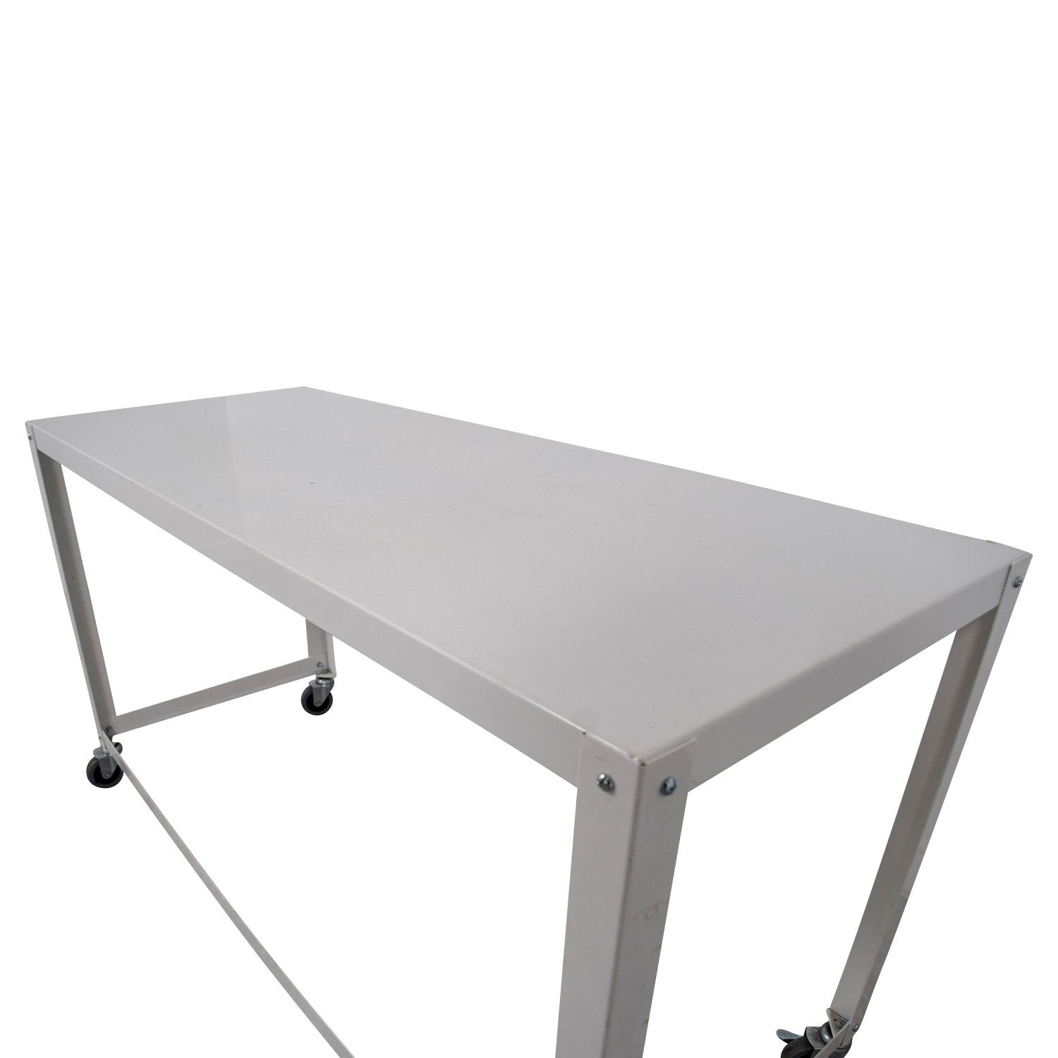 [%81% Off – Cb2 Cb2 Go Cart White Rolling Desk / Tables For Favorite Go Cart White Rolling Coffee Tables|Go Cart White Rolling Coffee Tables Regarding Famous 81% Off – Cb2 Cb2 Go Cart White Rolling Desk / Tables|Fashionable Go Cart White Rolling Coffee Tables Within 81% Off – Cb2 Cb2 Go Cart White Rolling Desk / Tables|Well Liked 81% Off – Cb2 Cb2 Go Cart White Rolling Desk / Tables For Go Cart White Rolling Coffee Tables%] (View 11 of 20)