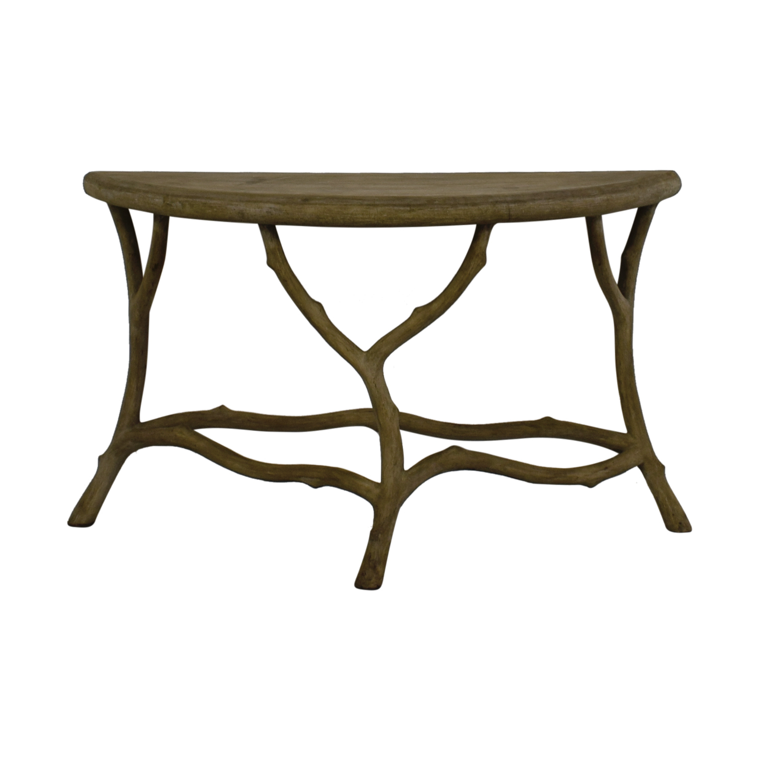 [%90% Off – Horchow Horchow Grey Faux Bois Half Table / Tables In Well Known Faux Bois Coffee Tables|faux Bois Coffee Tables Throughout Popular 90% Off – Horchow Horchow Grey Faux Bois Half Table / Tables|fashionable Faux Bois Coffee Tables Pertaining To 90% Off – Horchow Horchow Grey Faux Bois Half Table / Tables|most Current 90% Off – Horchow Horchow Grey Faux Bois Half Table / Tables Within Faux Bois Coffee Tables%] (View 17 of 20)