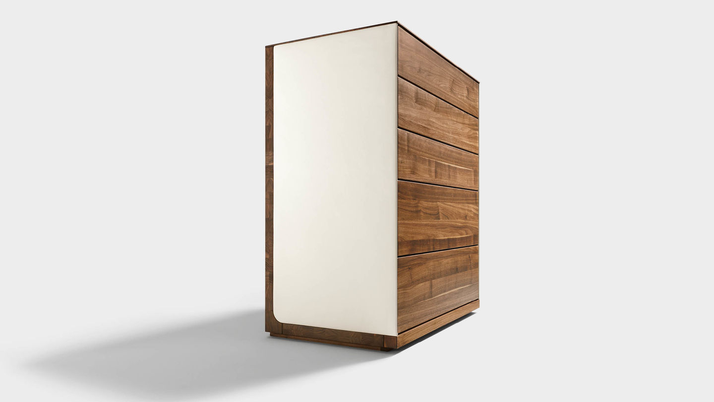 A Dream In Solid Wood Und Leather With Oil Pale Finish 4 Door Sideboards (View 3 of 20)