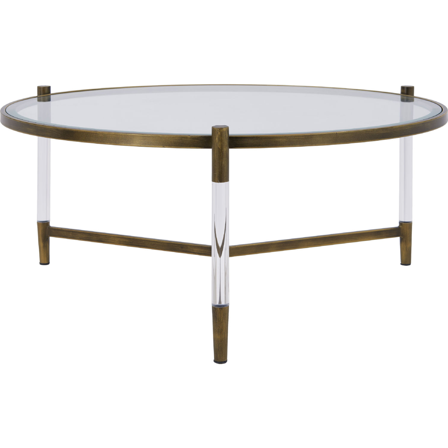 Acrylic & Brushed Brass Coffee Tables With Latest New Pacific Direct 1600028 Amaris Coffee Table In Acrylic, Brushed (View 5 of 20)