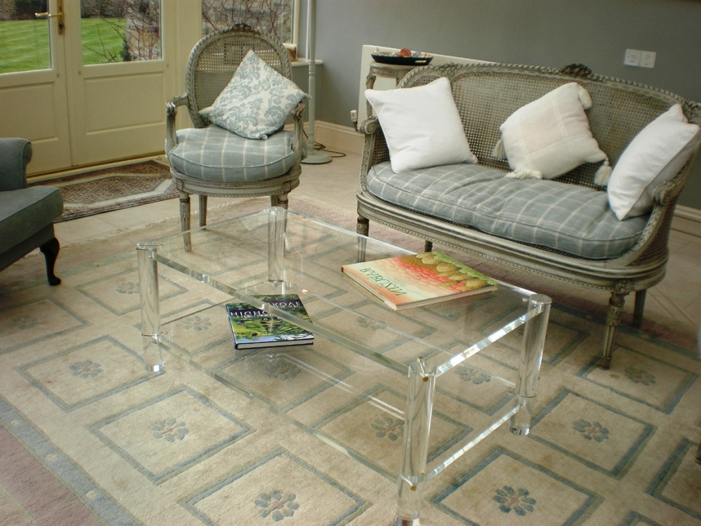 Acrylic Coffee Table With Shelf — Smart Architechtures : How To With Latest Stately Acrylic Coffee Tables (View 5 of 20)