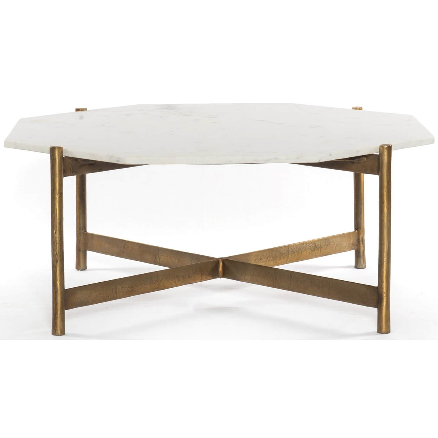 Adair Coffee Table, Raw Brass – Coffee Tables – Accent Tables Pertaining To Most Up To Date Slab Large Marble Coffee Tables With Brass Base (Gallery 1 of 20)