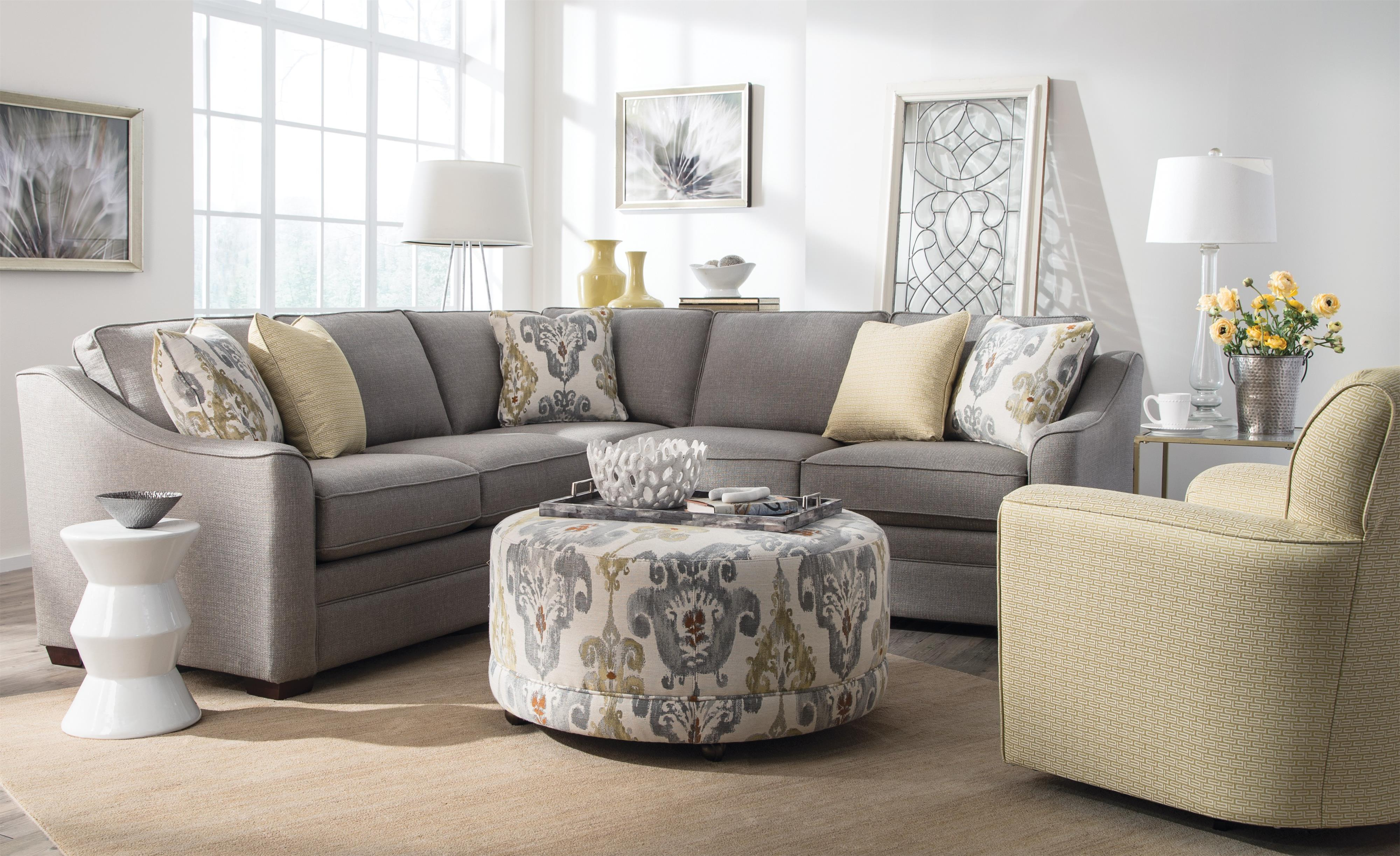 Adeline 3 Piece Sectionals Pertaining To 2019 Craftmaster F9 Custom Collection <B>Customizable</b> 3 Piece (View 6 of 20)
