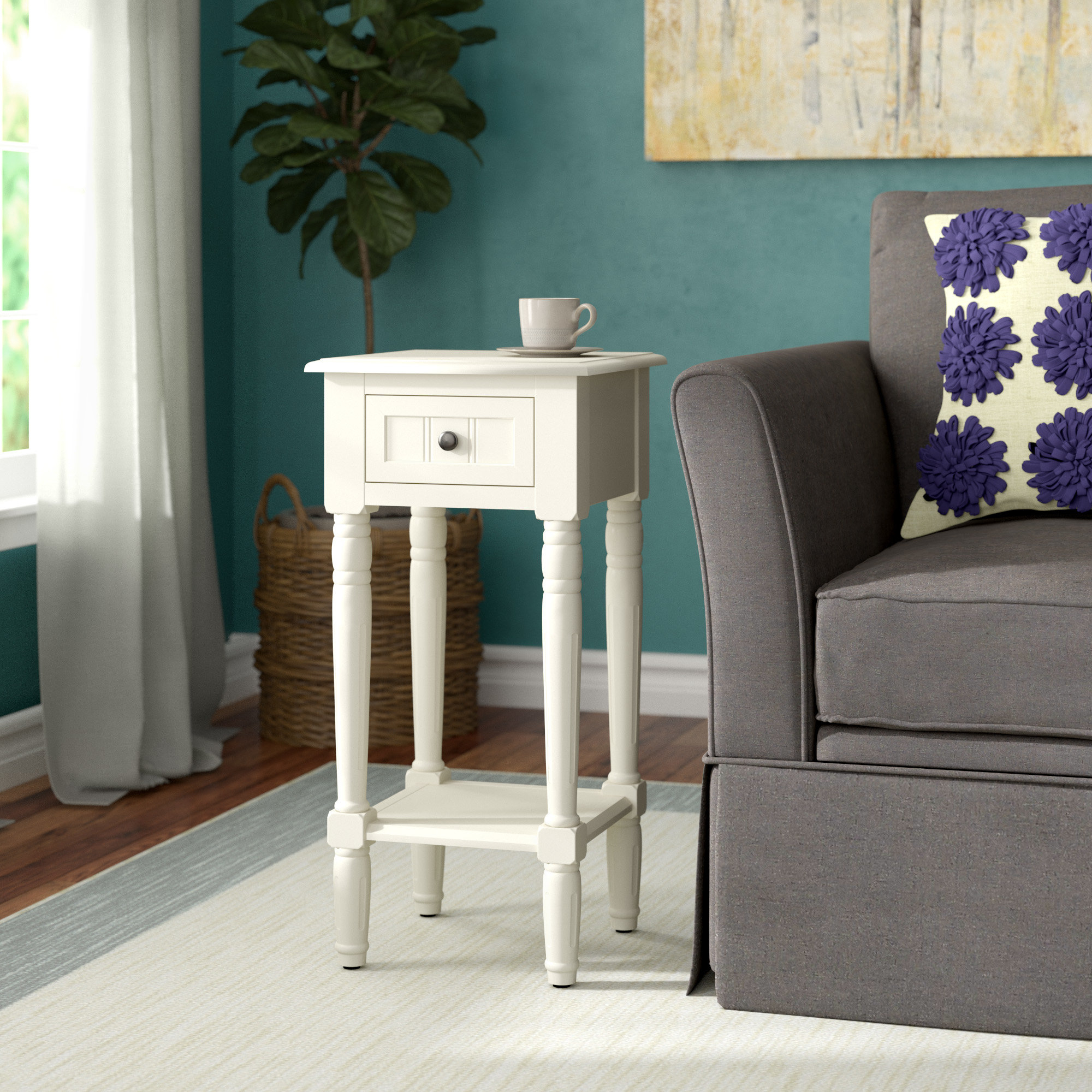 Adeline 3 Piece Sectionals Throughout Current Andover Mills Adeline End Table & Reviews (View 3 of 20)
