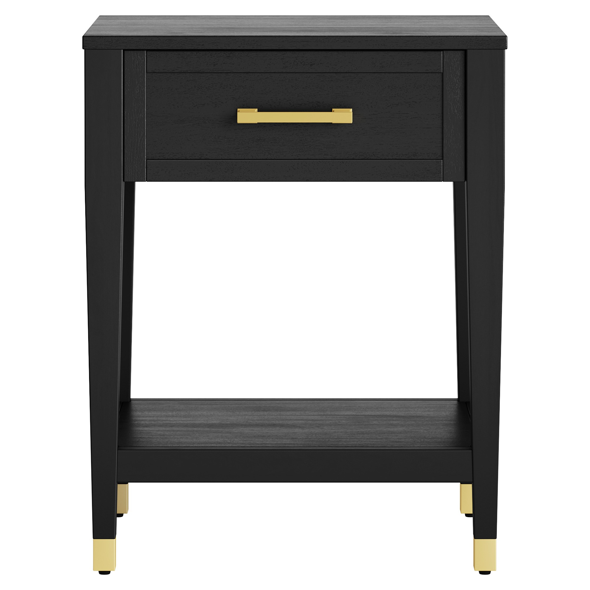 Aged Iron Cube Tables Inside Favorite Duxbury Black End Table With Gold Feet – Threshold In  (View 2 of 20)