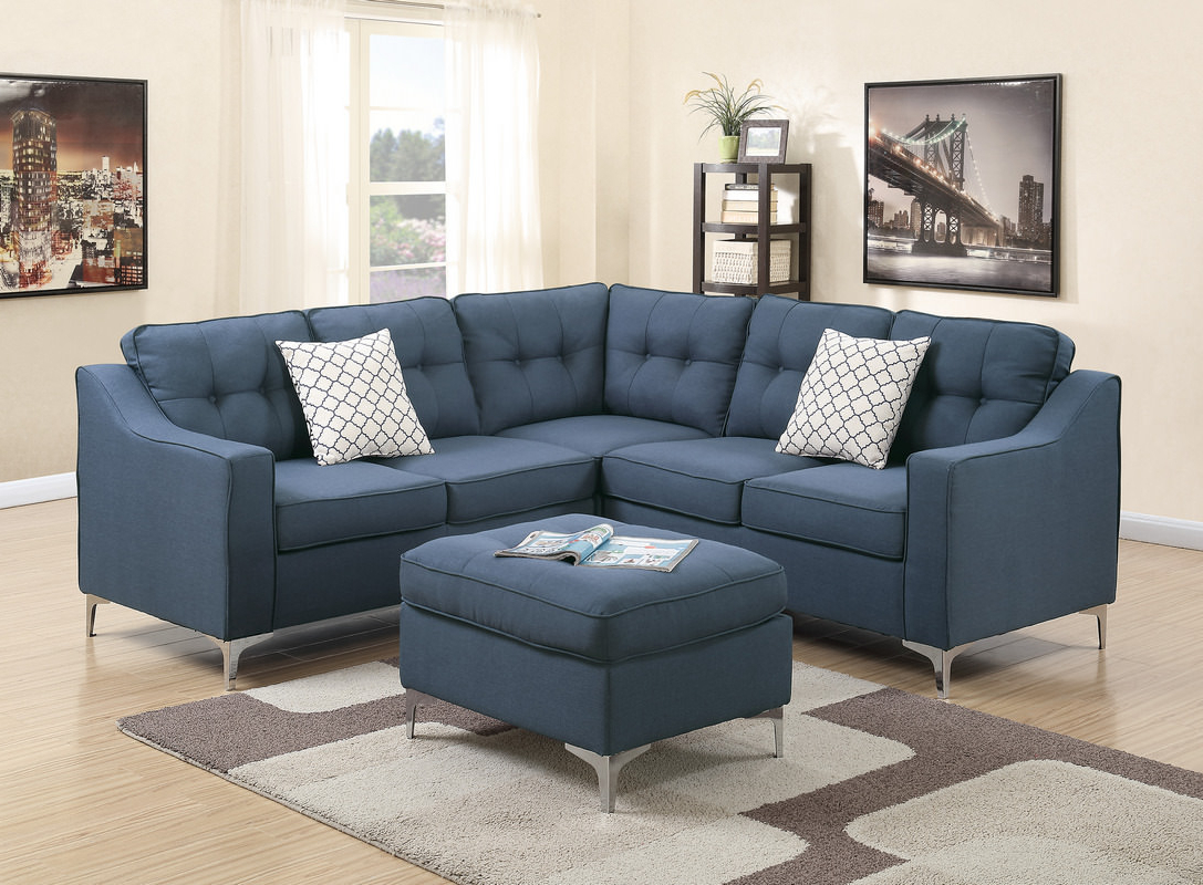 Aidan 4 Piece Sectionals Inside Fashionable Aidan 4 Piece Contemporary Sectional (Gallery 1 of 20)
