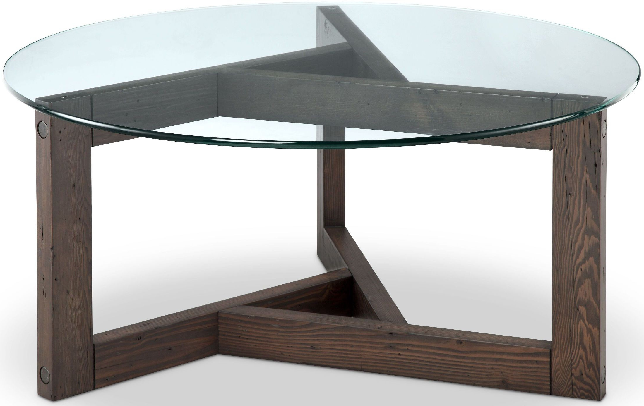 Alton Cocktail Tables Within Trendy Magnussen Beck Dark Chocolate Glass Round Cocktail Table – Beck (View 2 of 20)