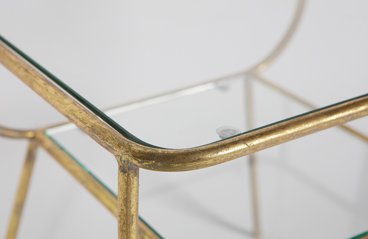 Amazing Antique Brass Side Table • Woo  (View 2 of 20)