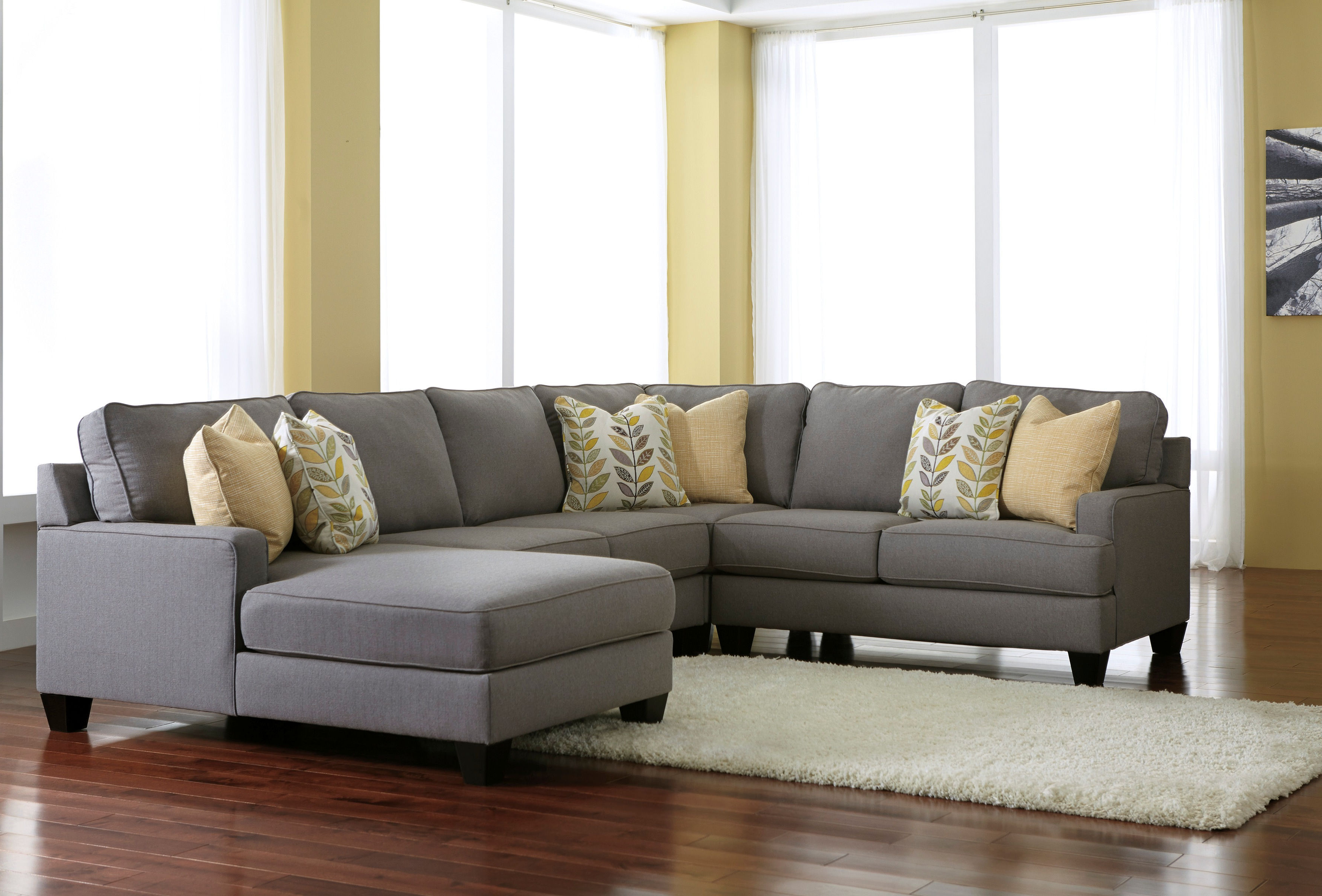 Amazing Signature Designashley Furniture Living Room Sectional Within Trendy Benton 4 Piece Sectionals (View 8 of 20)