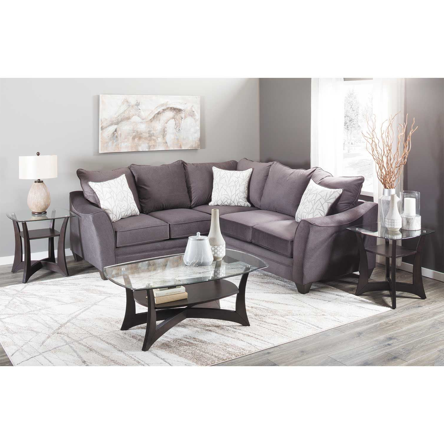 American Inside Cosmos Grey 2 Piece Sectionals With Laf Chaise (Gallery 7 of 20)