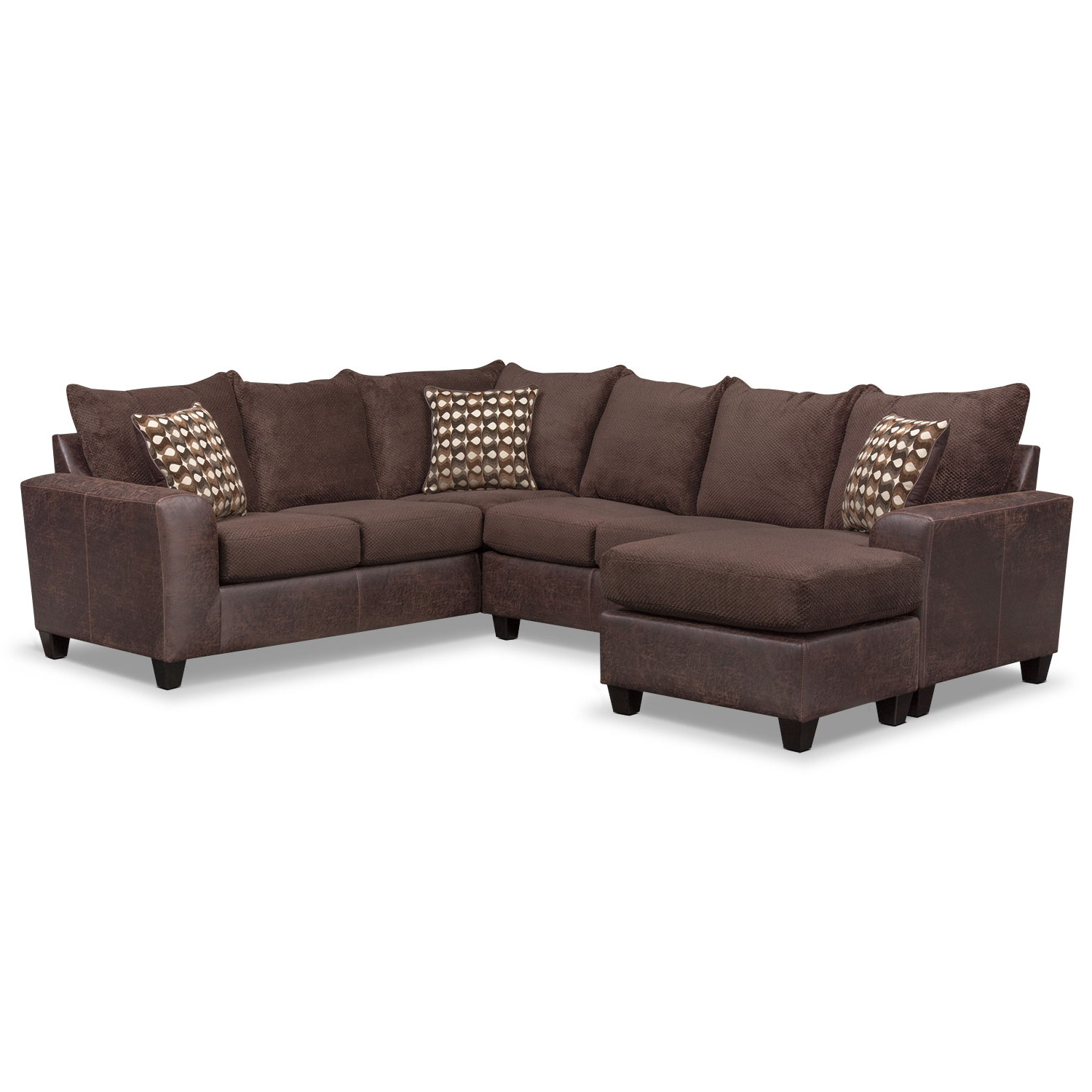 American Regarding Aurora 2 Piece Sectionals (Gallery 6 of 20)