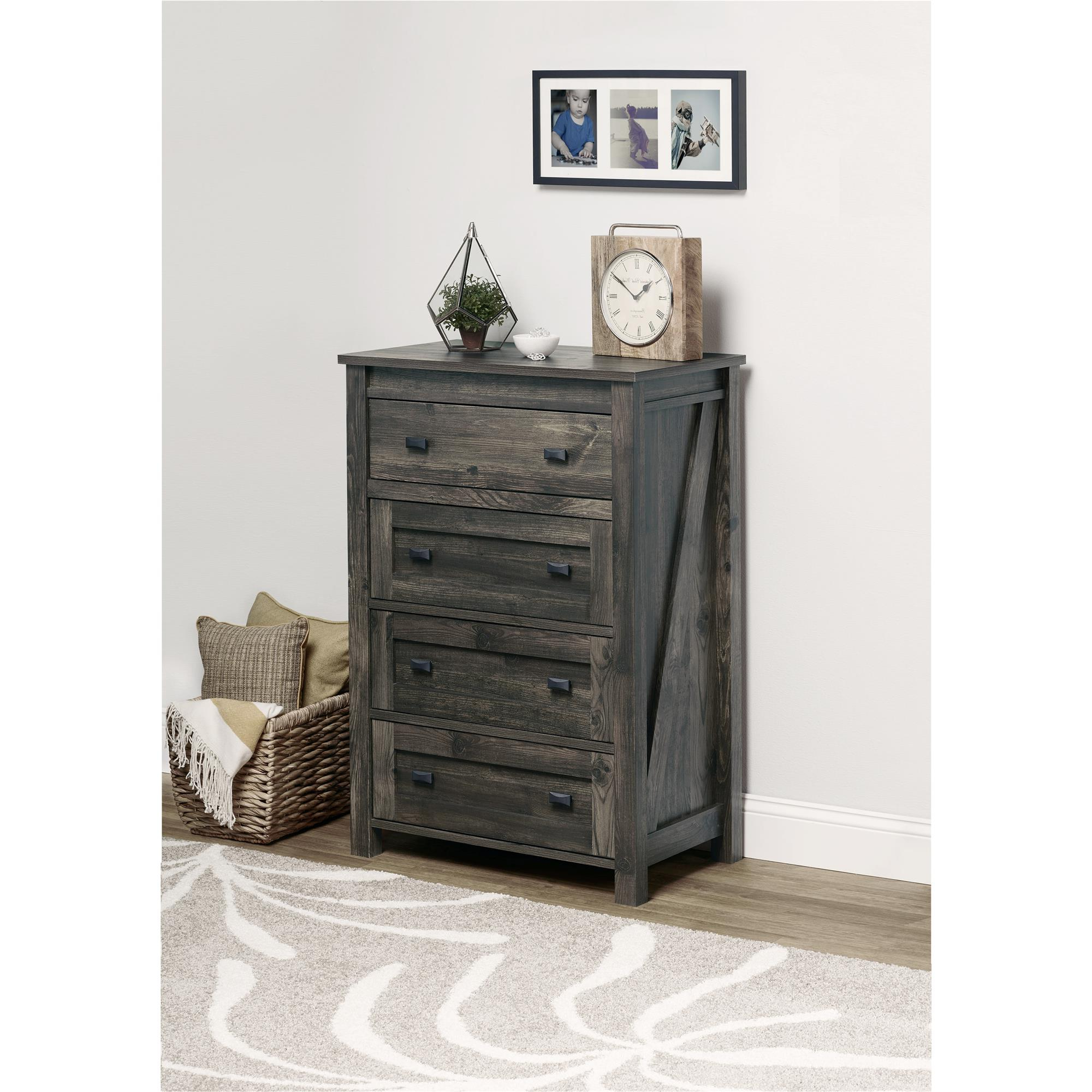 Ameriwood Home Farmington 4 Drawer Dresser, Multiple Colors Pertaining To Popular Reclaimed Elm 91 Inch Sideboards (Gallery 20 of 20)