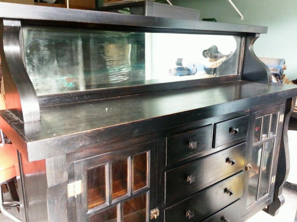 Amos Buffet Sideboards Pertaining To Most Current Antique Sideboard With Mirror : Rocket Uncle – Antique Sideboard (View 14 of 20)