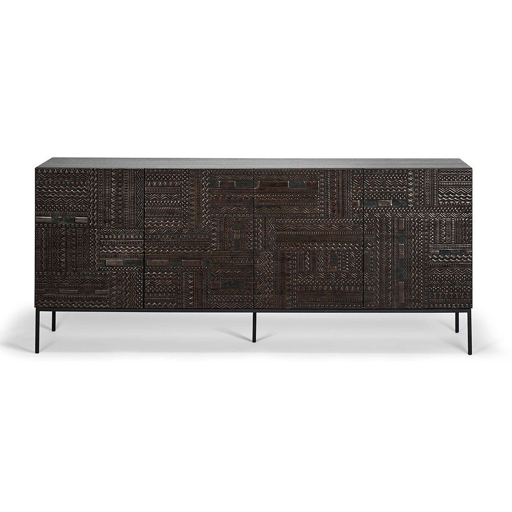 Ancestors Tabwa Sideboard – 4 Doors – Rouse Home Regarding Widely Used Carved 4 Door Metal Frame Sideboards (View 3 of 20)