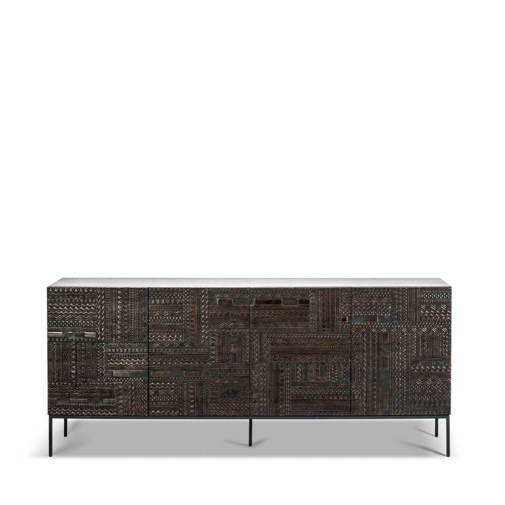 Ancestors Tabwa Sideboard – Ethnicraft With Current Carved 4 Door Metal Frame Sideboards (View 2 of 20)