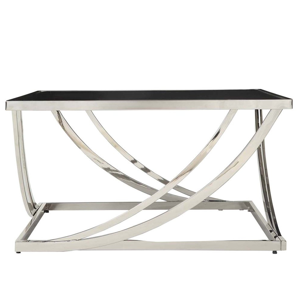 Anson Cocktail Tables Throughout Current Shop Anson Steel Arch Curved Sculptural Modern Coffee Table (View 4 of 20)