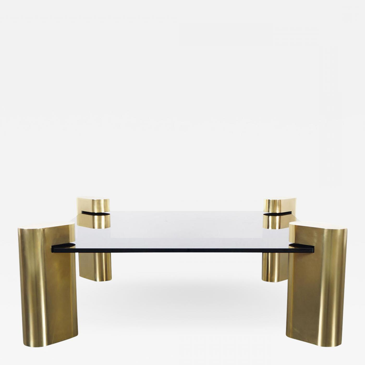 Antique Brass Coffee Tables In Famous Karl Springer – Exceptional Vintage Brass Coffee Tablekarl Springer (View 17 of 20)