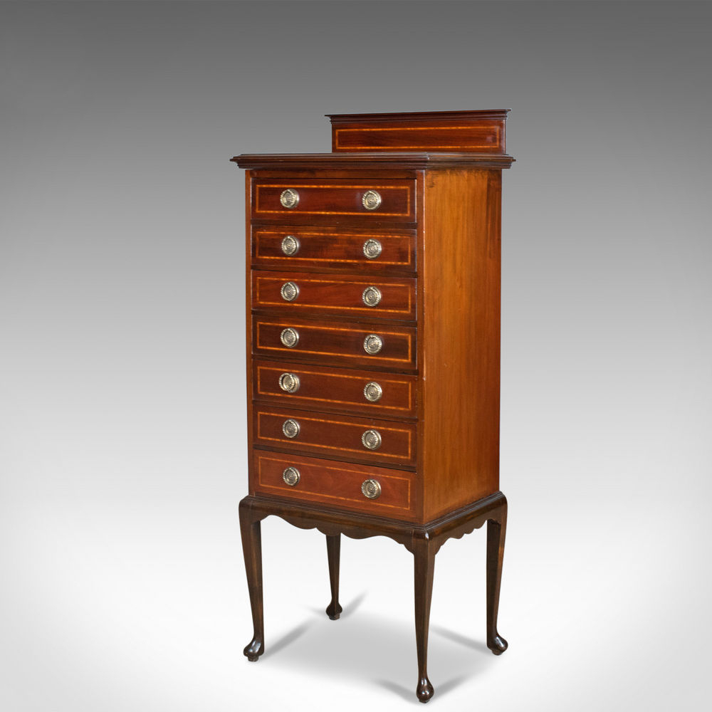 Antique Edwardian Mahogany Music Cabinet, Maggs&co, Clifton (C. 1910 Intended For Most Recently Released Walnut Finish Crown Moulding Sideboards (Gallery 16 of 20)