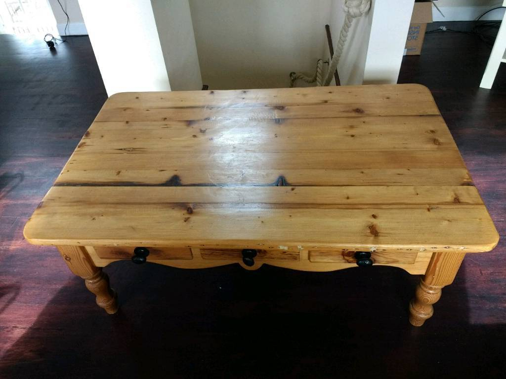 Antique Pine Coffee Tables Intended For Well Known Reclaimed Antique Pine Coffee Table (View 19 of 20)