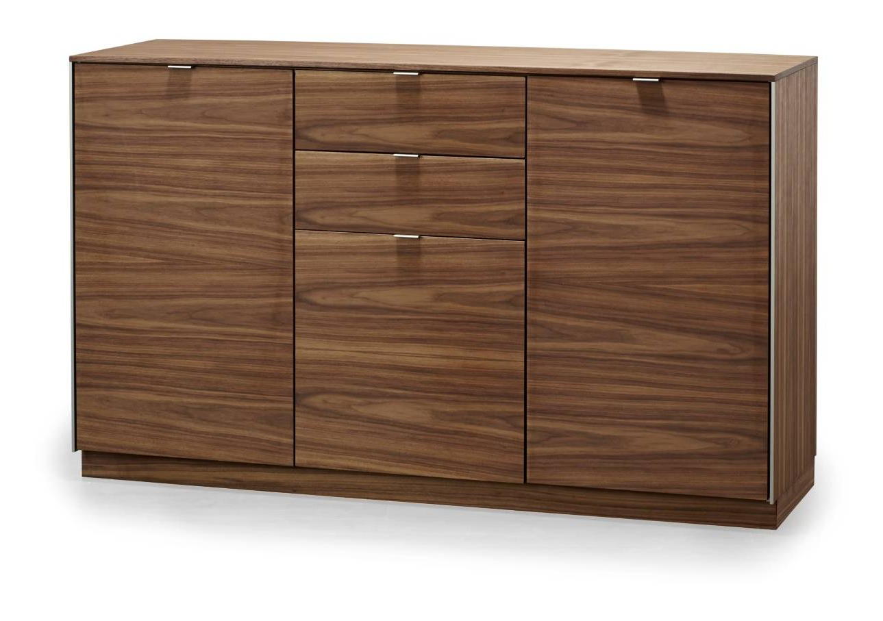 Antique Walnut Finish 2 Door/4 Drawer Sideboards Within Most Recent Skovby #932 Sideboard At Lukehurst (View 14 of 20)