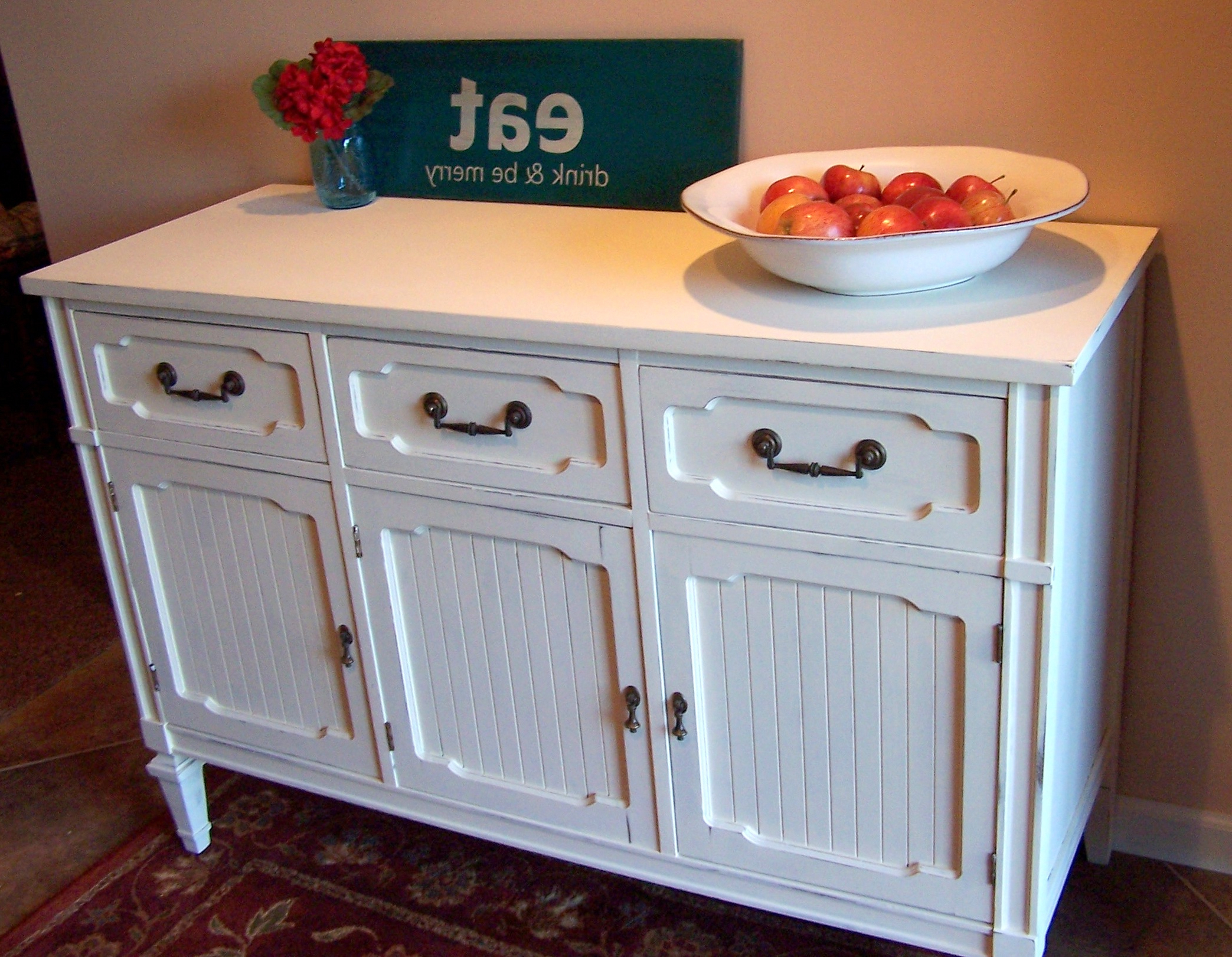 Antique White Sideboards In Recent White Buffet Sideboard Brilliant Or Fresh On Old Urban With Regard (View 2 of 20)