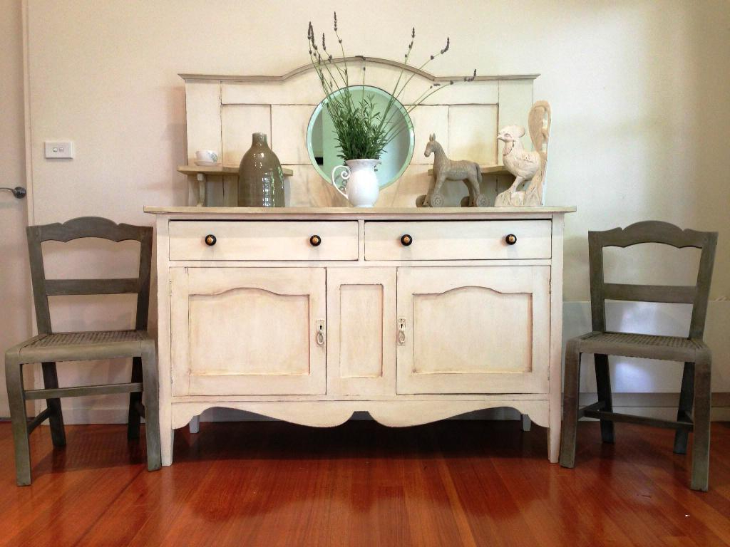 Antique White Sideboards Regarding 2019 Antique Sideboard Buffet In Our Home — Rocket Uncle Rocket Uncle (View 4 of 20)