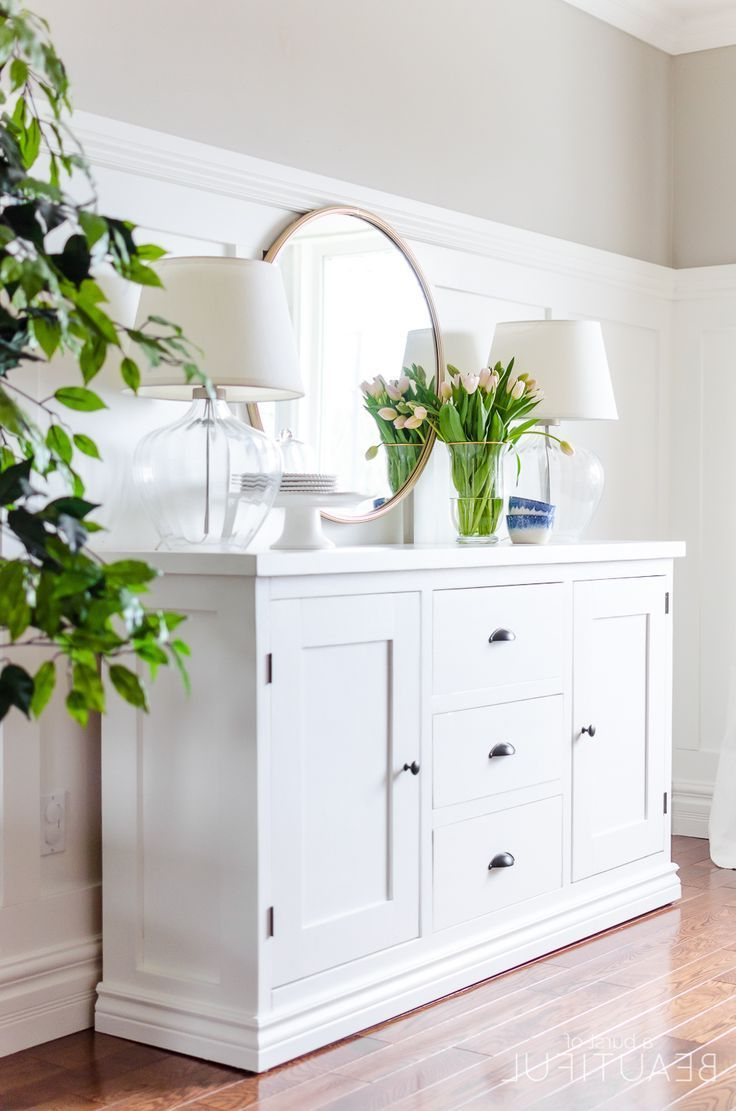 Antique White Sideboards Regarding Well Known Sideboards: Top White Sideboards And Buffets White Sideboards And (View 12 of 20)