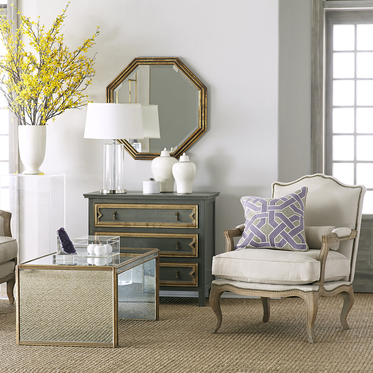 Antiqued Art Deco Coffee Table (View 19 of 20)