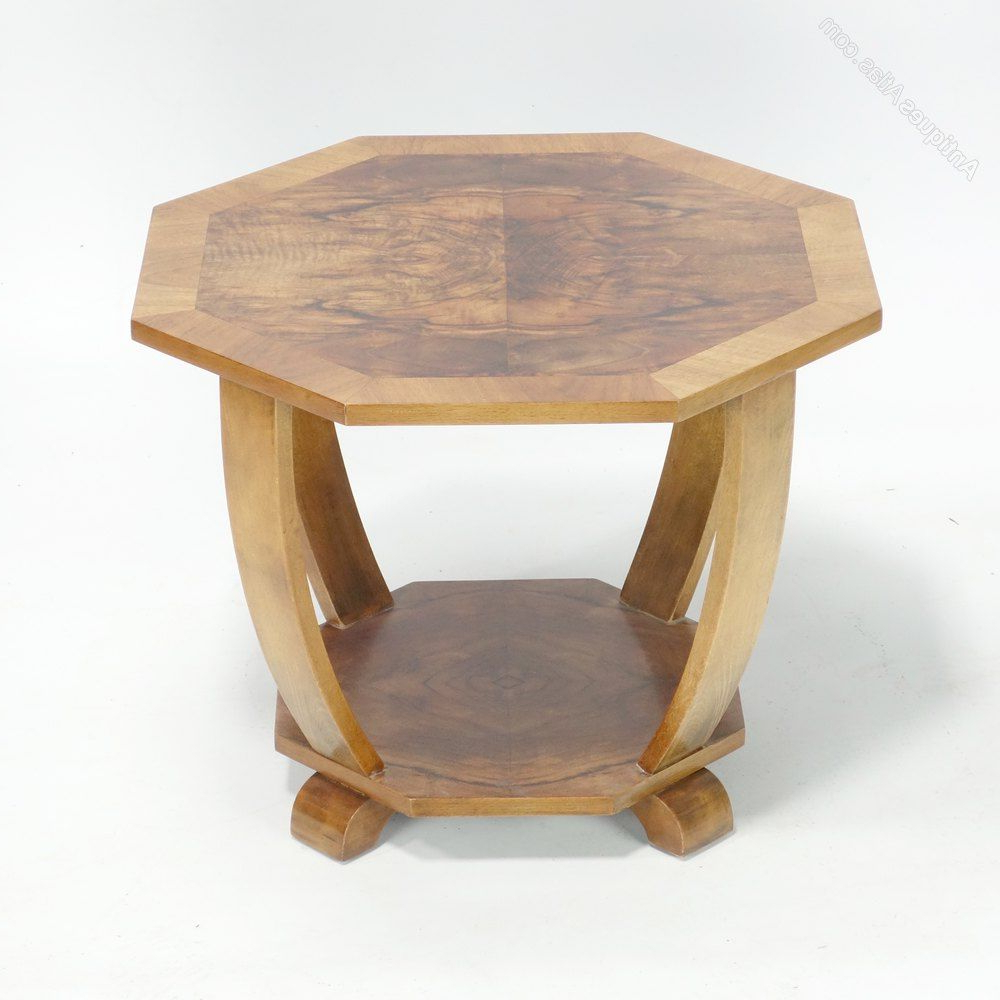 Antiqued Art Deco Coffee Tables Regarding Favorite Art Deco Coffee Side Table C1930. – Antiques Atlas (Gallery 4 of 20)