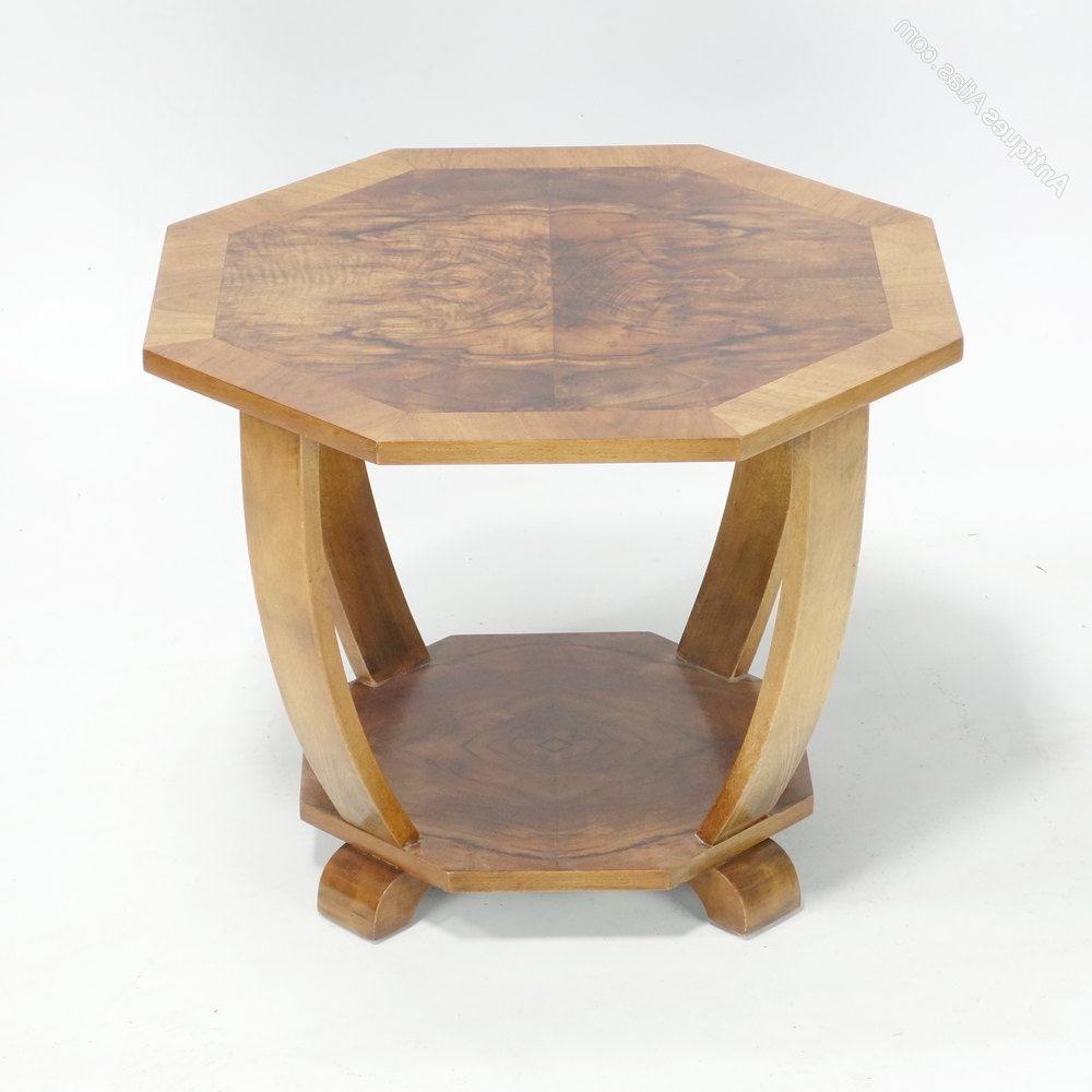 Antiqued Art Deco Coffee Tables Regarding Favorite Art Deco Coffee Side Table C (View 4 of 20)