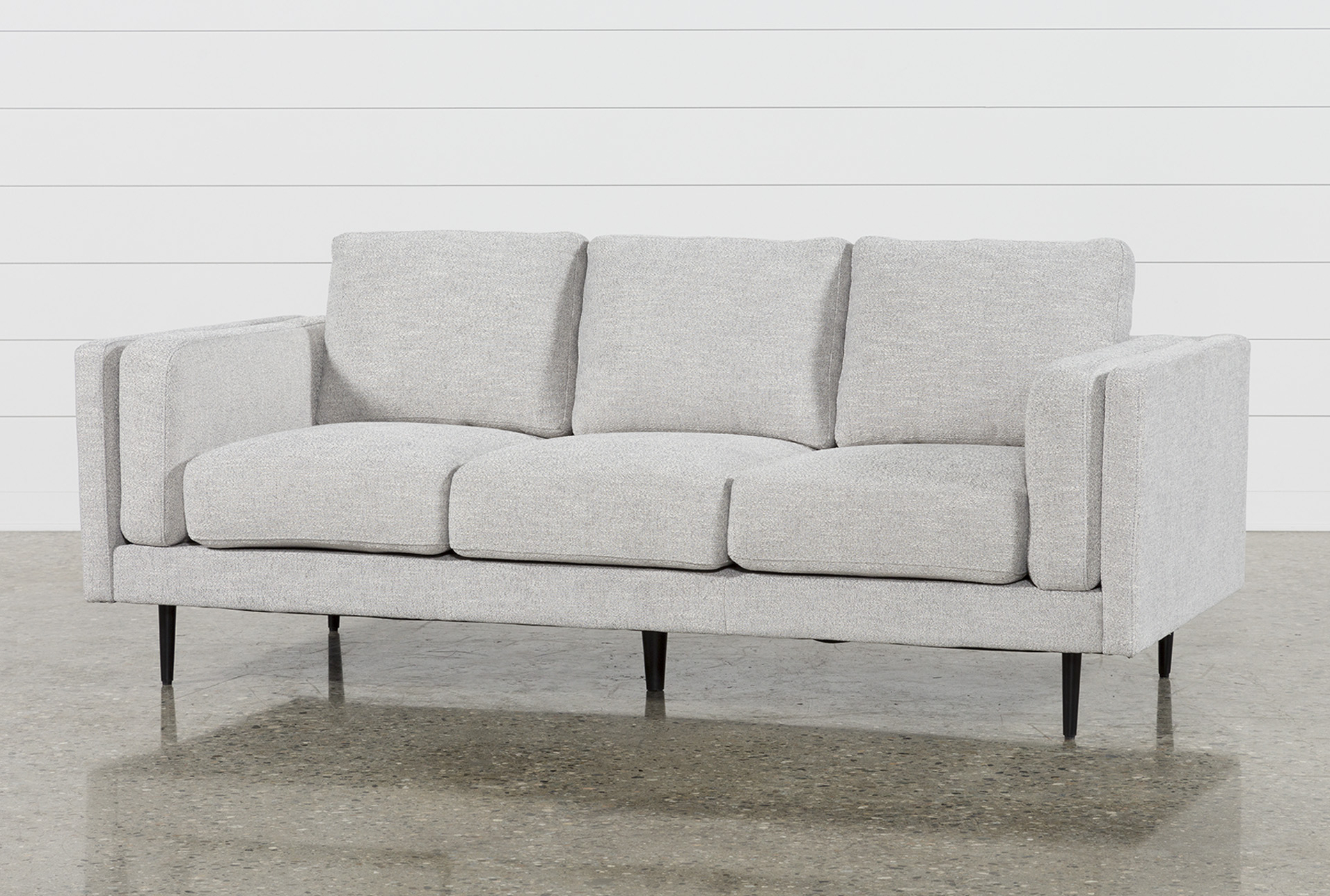 Aquarius Dark Grey 2 Piece Sectionals With Raf Chaise For 2018 Gray Sofa Living Spaces (View 3 of 20)