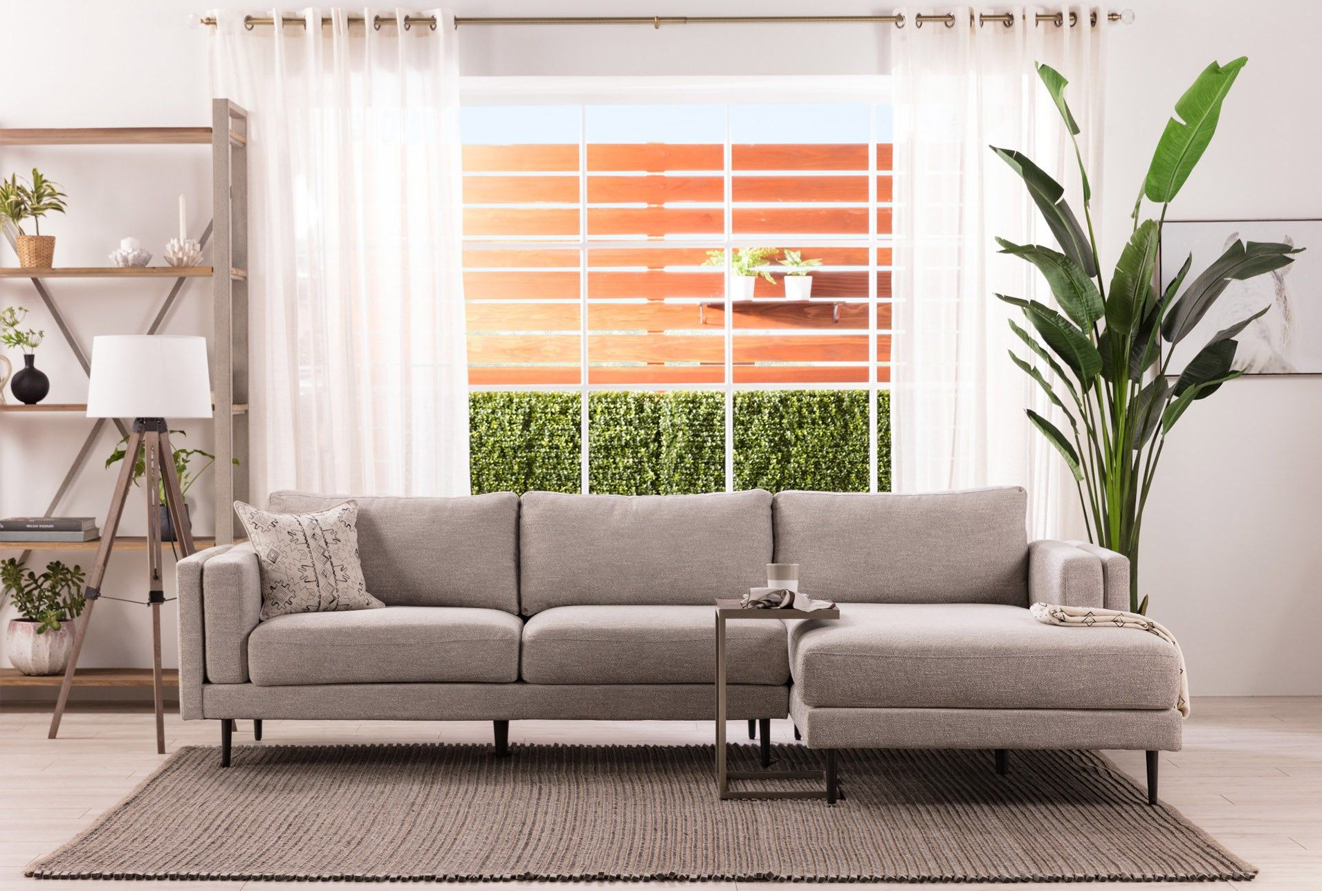 Aquarius Light Grey 2 Piece Sectional W/laf Chaise (View 2 of 20)