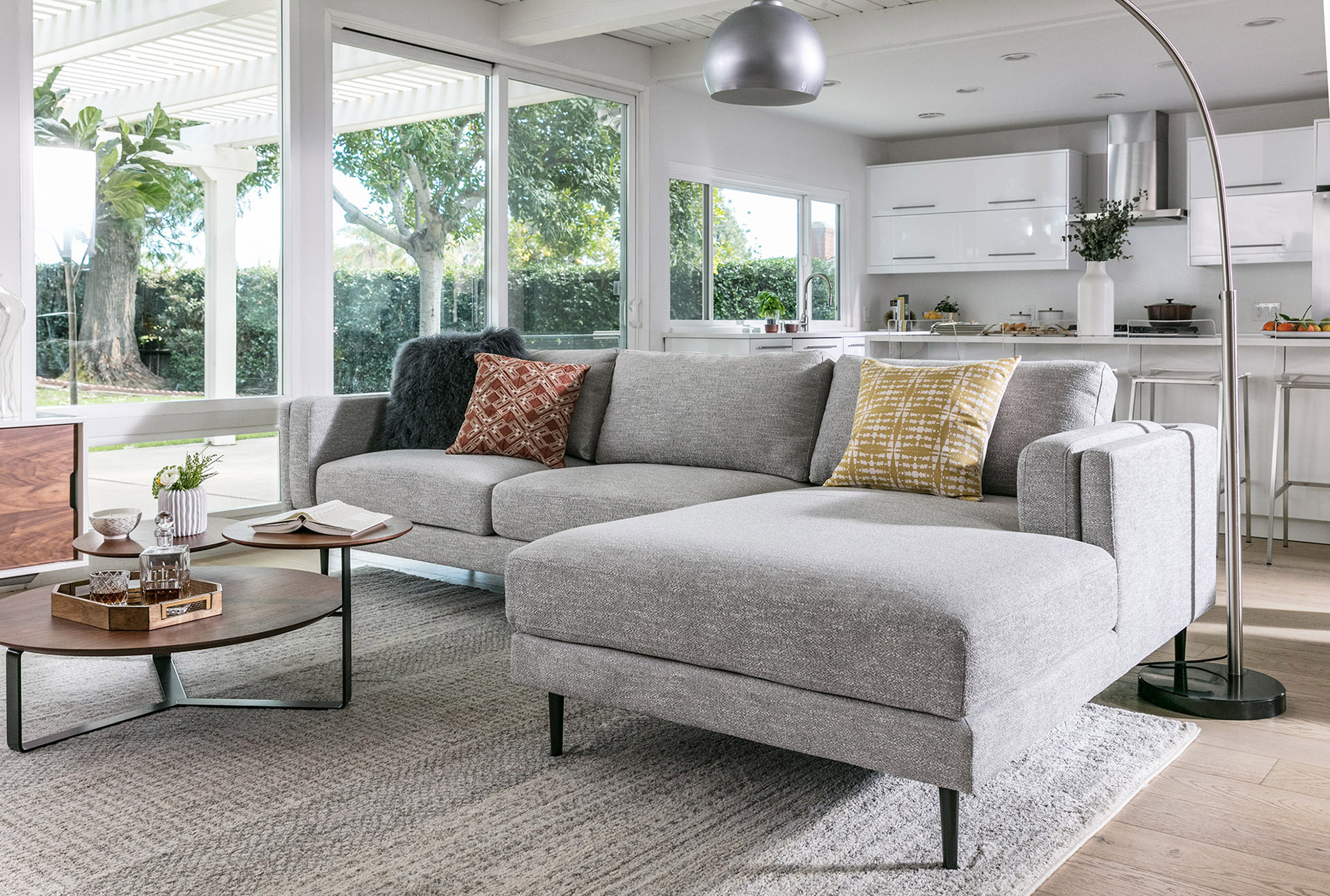 Aquarius Light Grey 2 Piece Sectional W/laf Chaise (View 5 of 20)