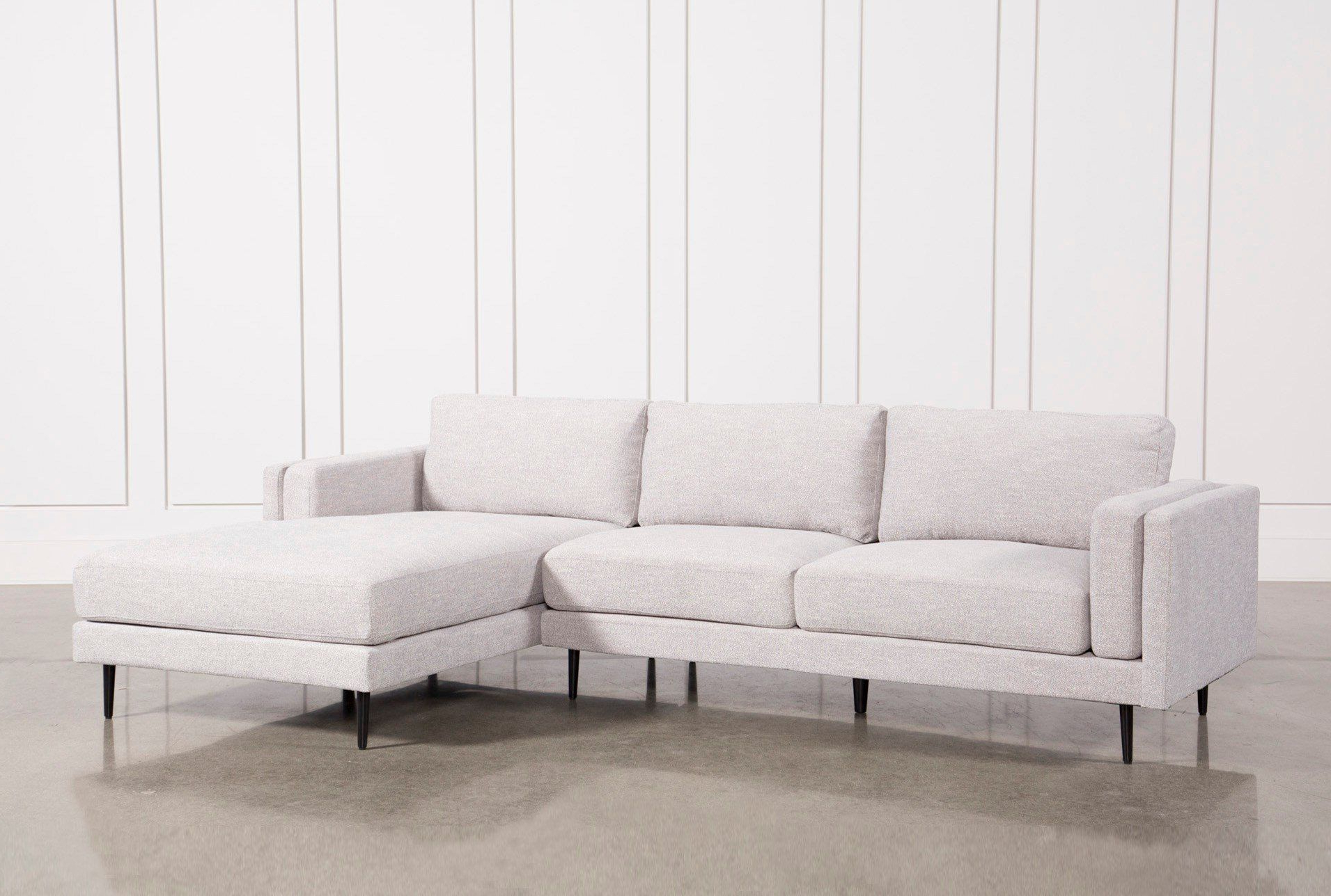 Aquarius Light Grey 2 Piece Sectional W/raf Chaise (View 7 of 20)