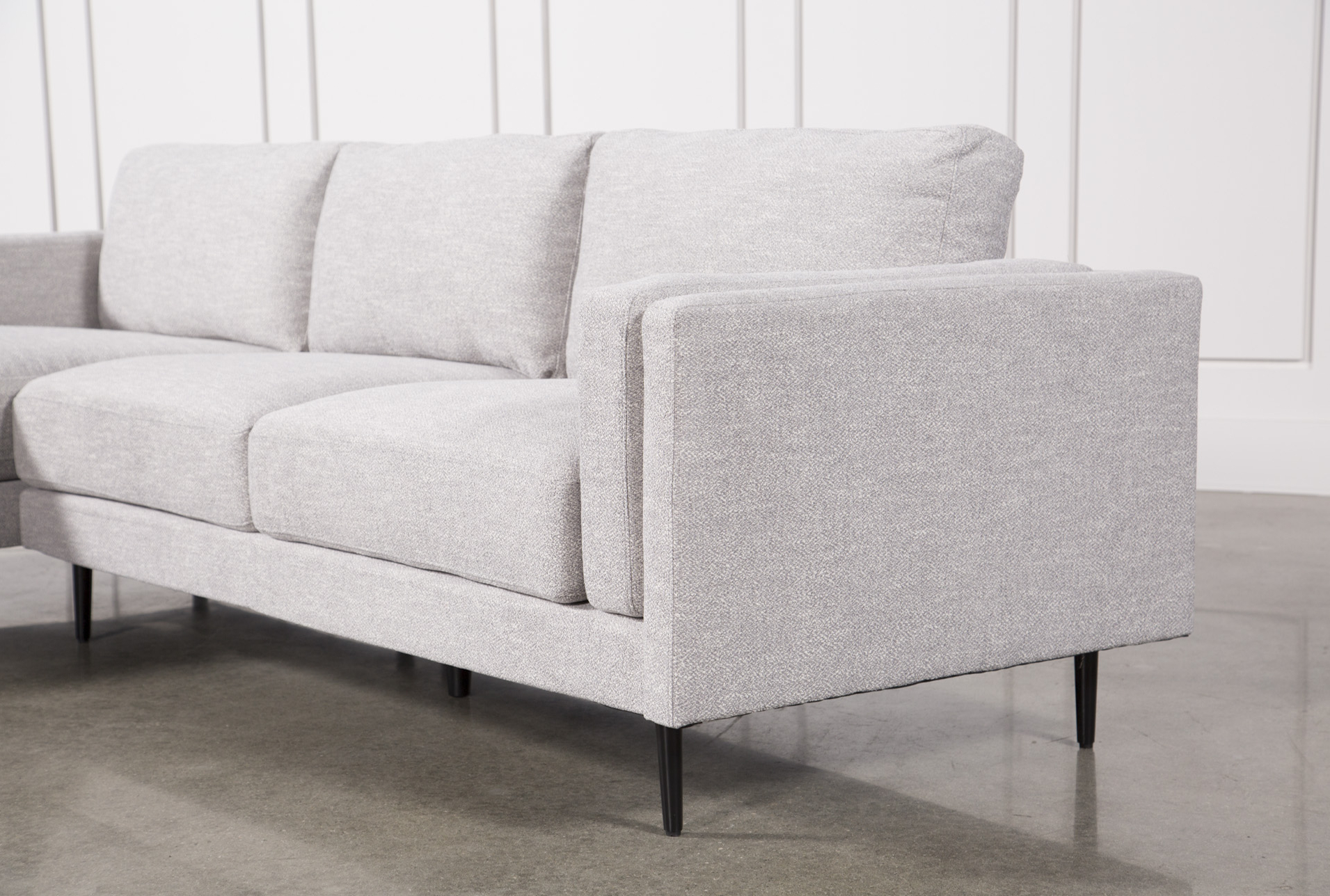 Aquarius Light Grey 2 Piece Sectional W/raf Chaise (Gallery 2 of 20)