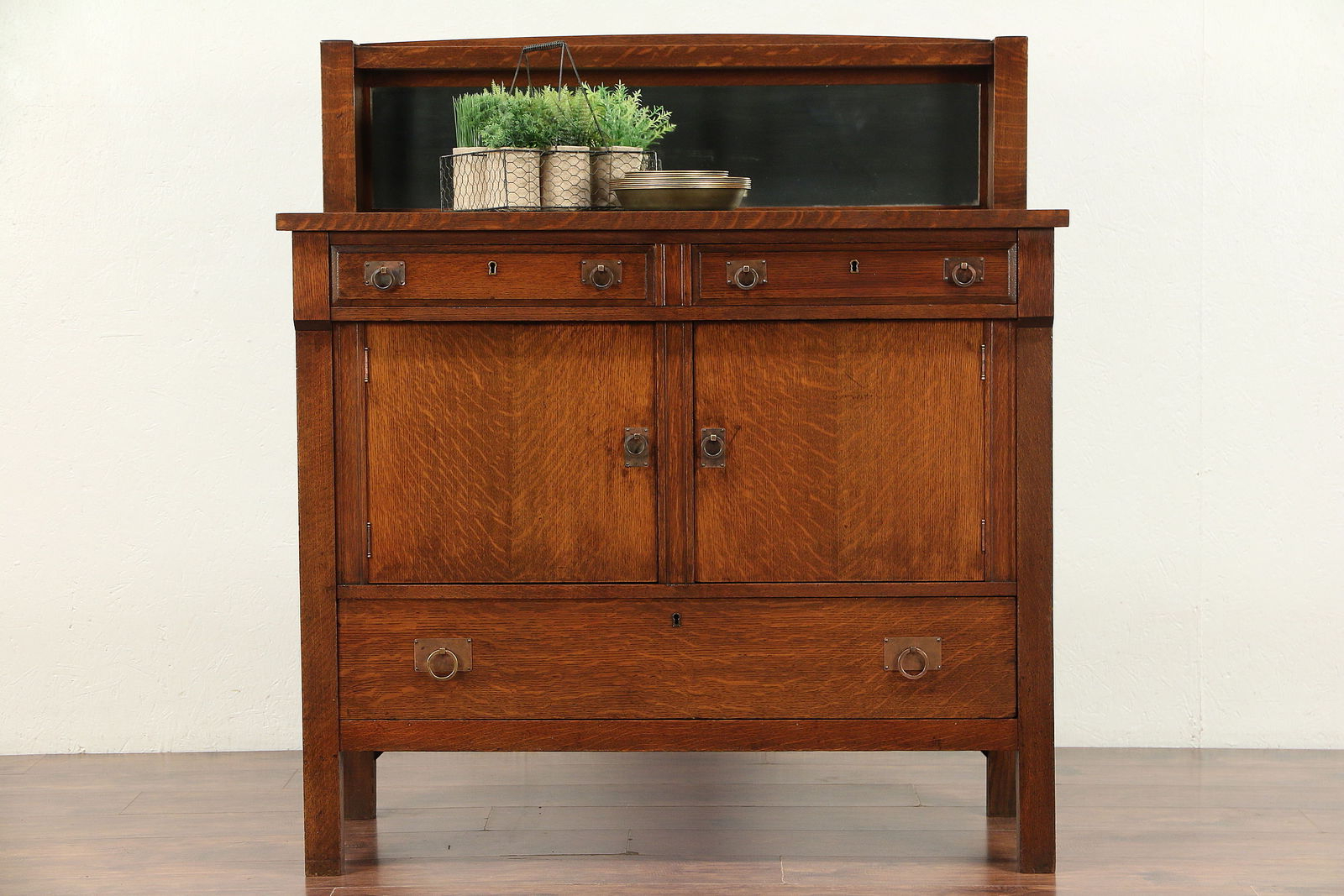 Arts & Crafts Mission Oak Antique Craftsman Sideboard, Server Pertaining To 2019 Craftsman Sideboards (View 1 of 20)
