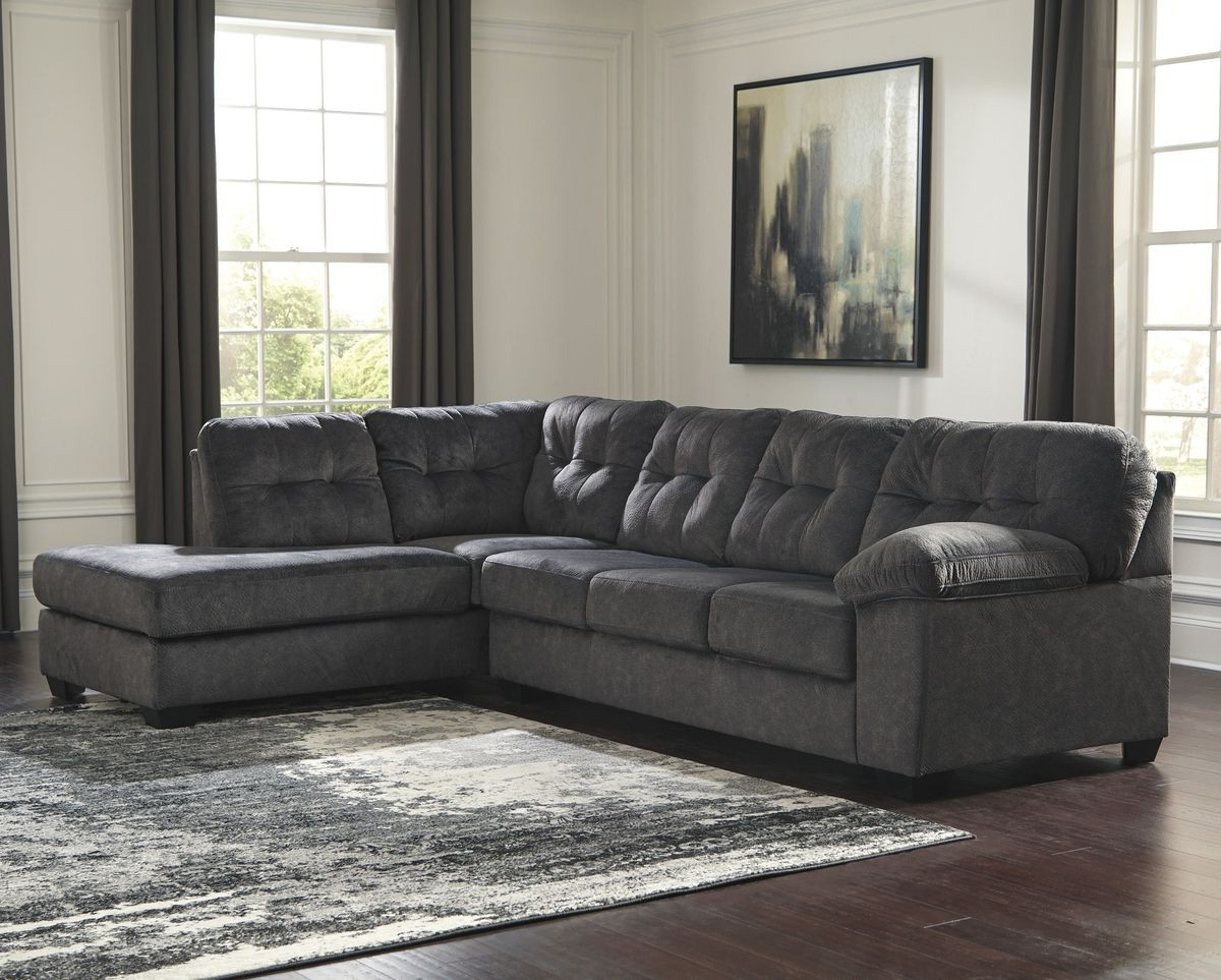 Ashley Furniture Accrington 2 Piece Sectional With Raf Chaise In For 2019 Aspen 2 Piece Sectionals With Raf Chaise (View 3 of 20)