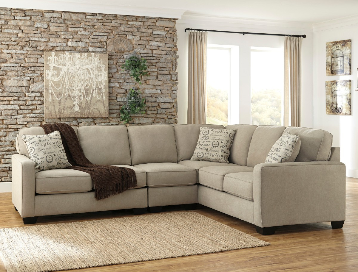 Ashley Furniture Alenya 3 Piece Sectional In Quartz With Armless Within Well Liked Sierra Foam Ii 3 Piece Sectionals (View 17 of 20)