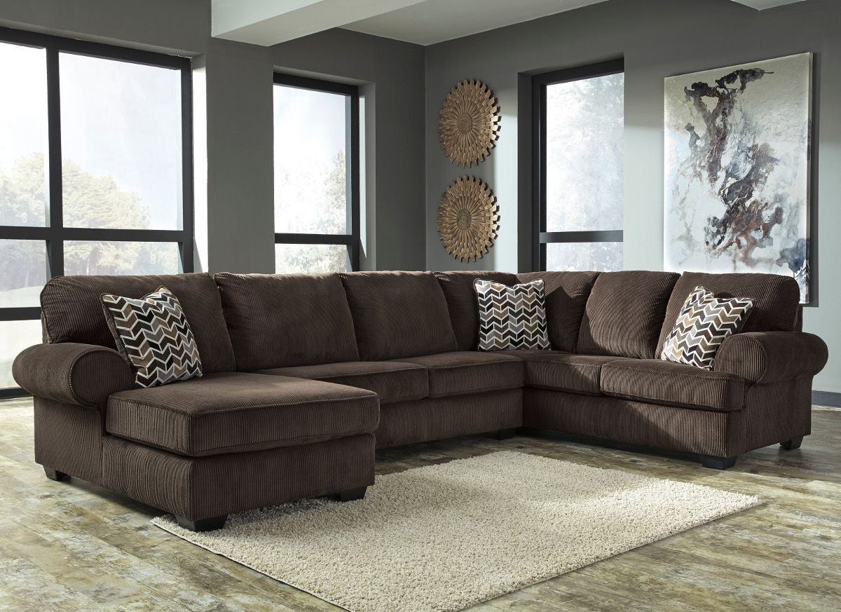 Ashley Furniture Jinllingsly 3 Piece Sectional With Raf Chaise In Pertaining To Widely Used Sierra Foam Ii 3 Piece Sectionals (View 4 of 20)