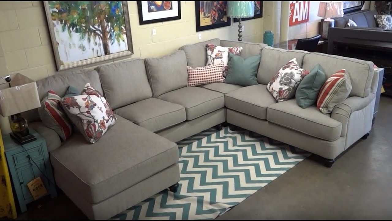 Ashley Furniture Kerridon Putty Sectional 263 Review – Youtube Regarding 2019 Kerri 2 Piece Sectionals With Laf Chaise (View 1 of 20)