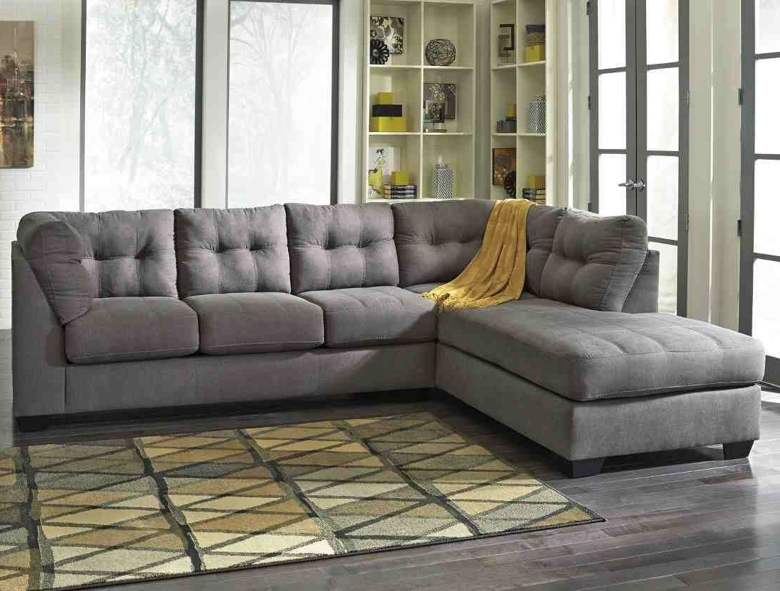 Ashley Furniture Maier 2 Piece Sectional In Charcoal With Laf Chaise Pertaining To Current Aspen 2 Piece Sleeper Sectionals With Laf Chaise (View 3 of 20)