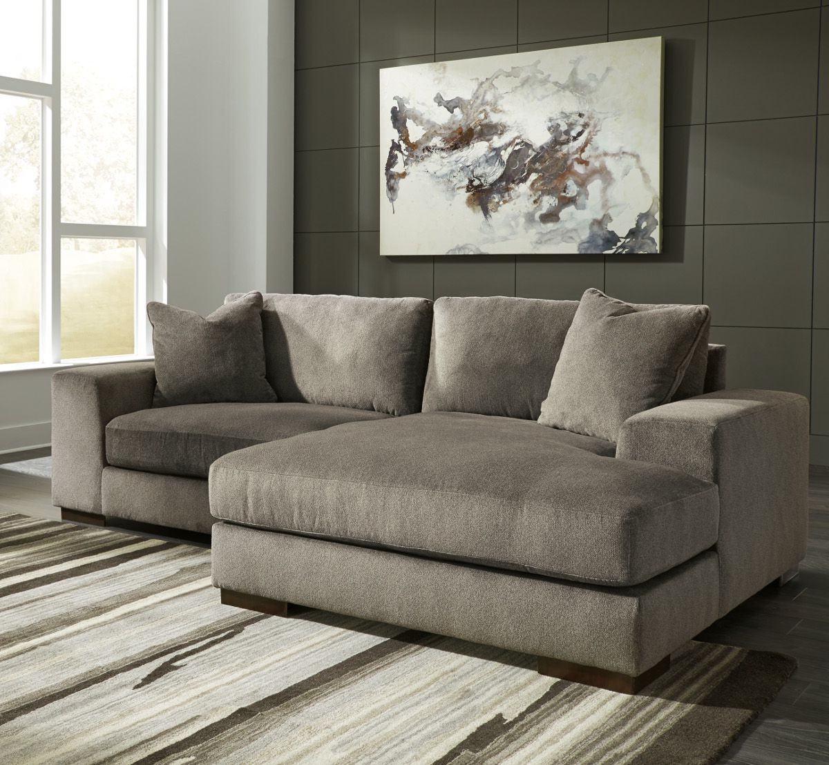 Ashley Furniture Manzani 2 Piece Sectional With Laf Chaise In Inside Latest Aspen 2 Piece Sectionals With Laf Chaise (Gallery 12 of 20)