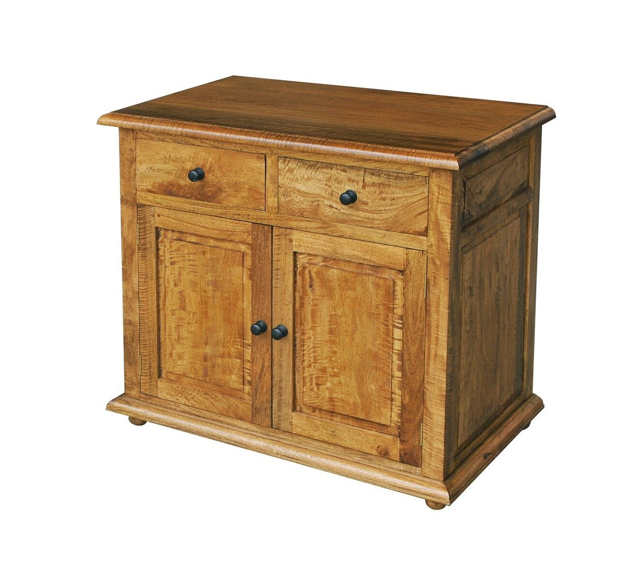 Asian Solid Mango Wood Small 2 Door Sideboard (View 1 of 20)
