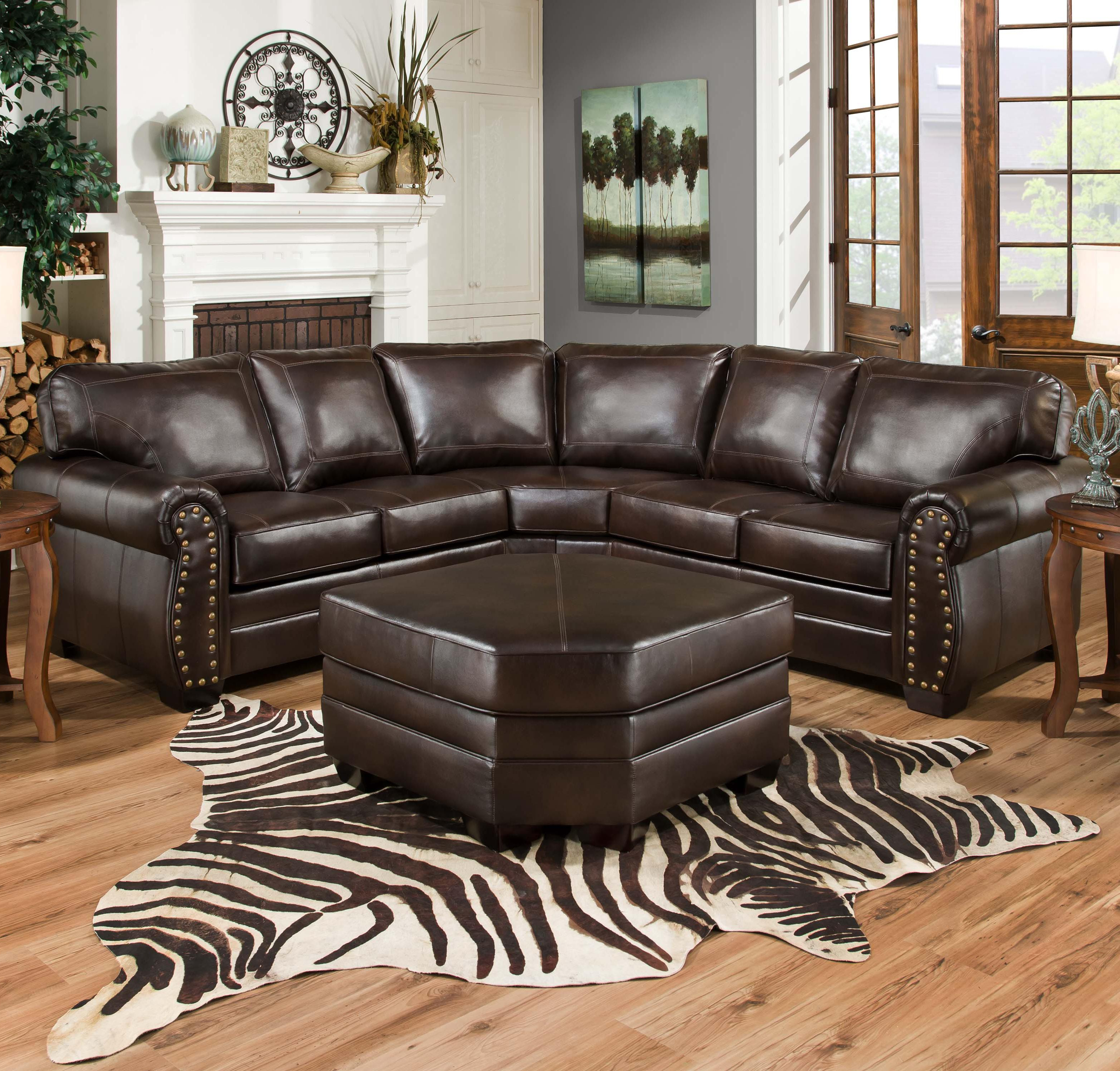 Aspen 2 Piece Sleeper Sectionals With Raf Chaise For Fashionable Simmons Upholstery 9222 Traditional Sectional Sofa With Rolled Arms (Gallery 9 of 20)
