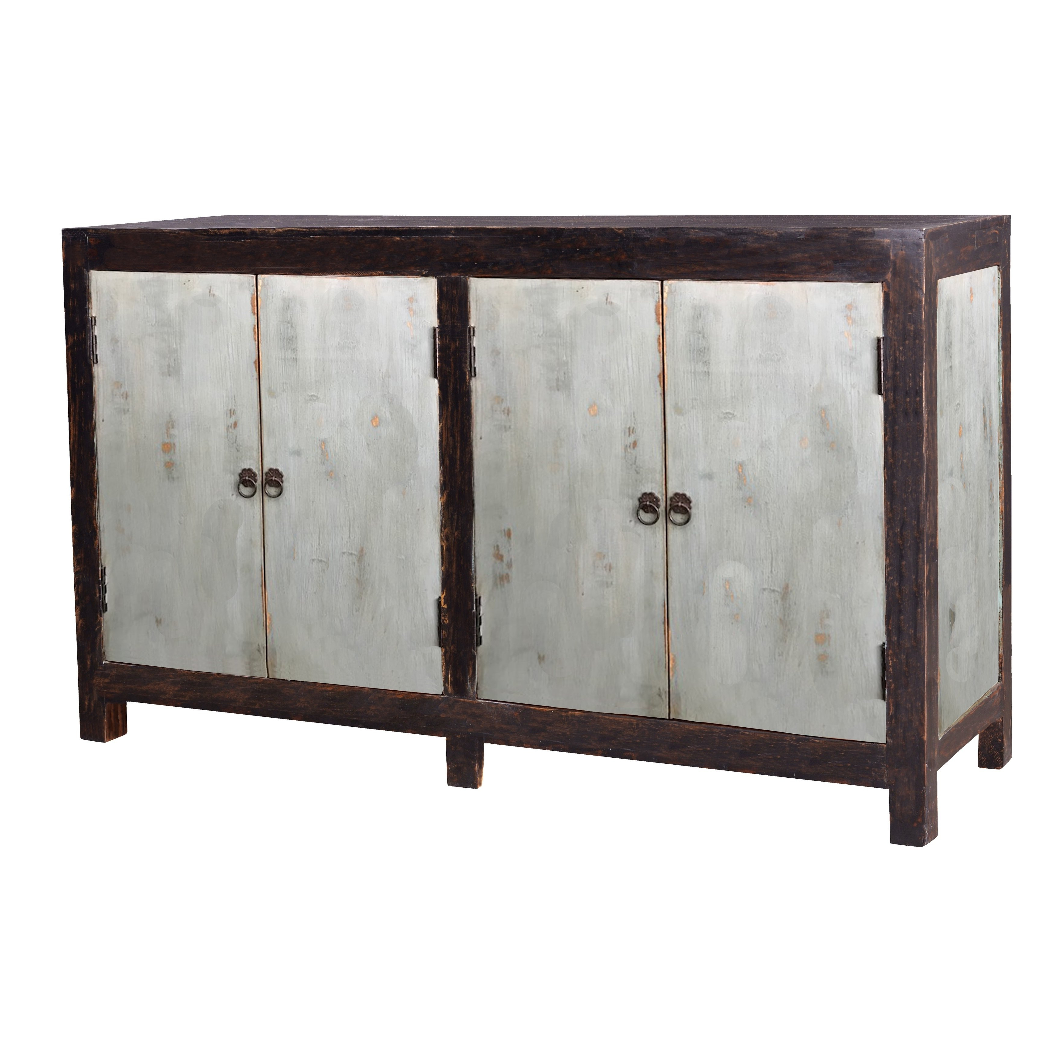 Auro 4 Door Sideboard  Turquoise – Free Shipping Today – Overstock Regarding 2018 Candice Ii Sideboards (Gallery 16 of 20)