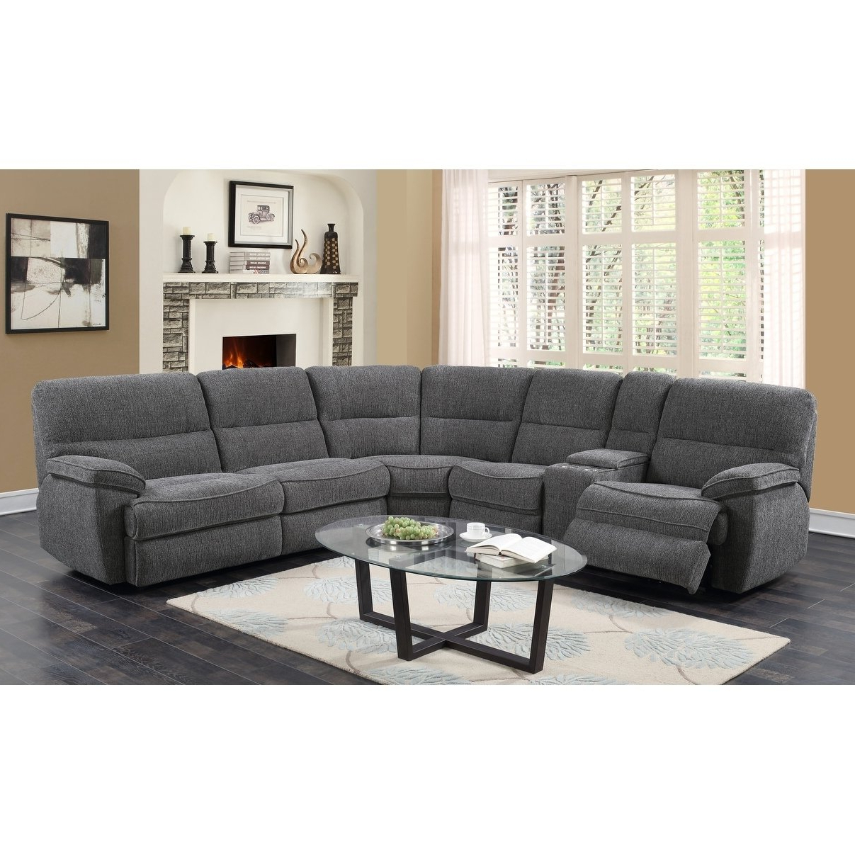 Aurora 2 Piece Sectionals In Trendy Shop Emerald Home Aurora Platinum 3 Piece Sleeper Sectional – Free (View 3 of 20)